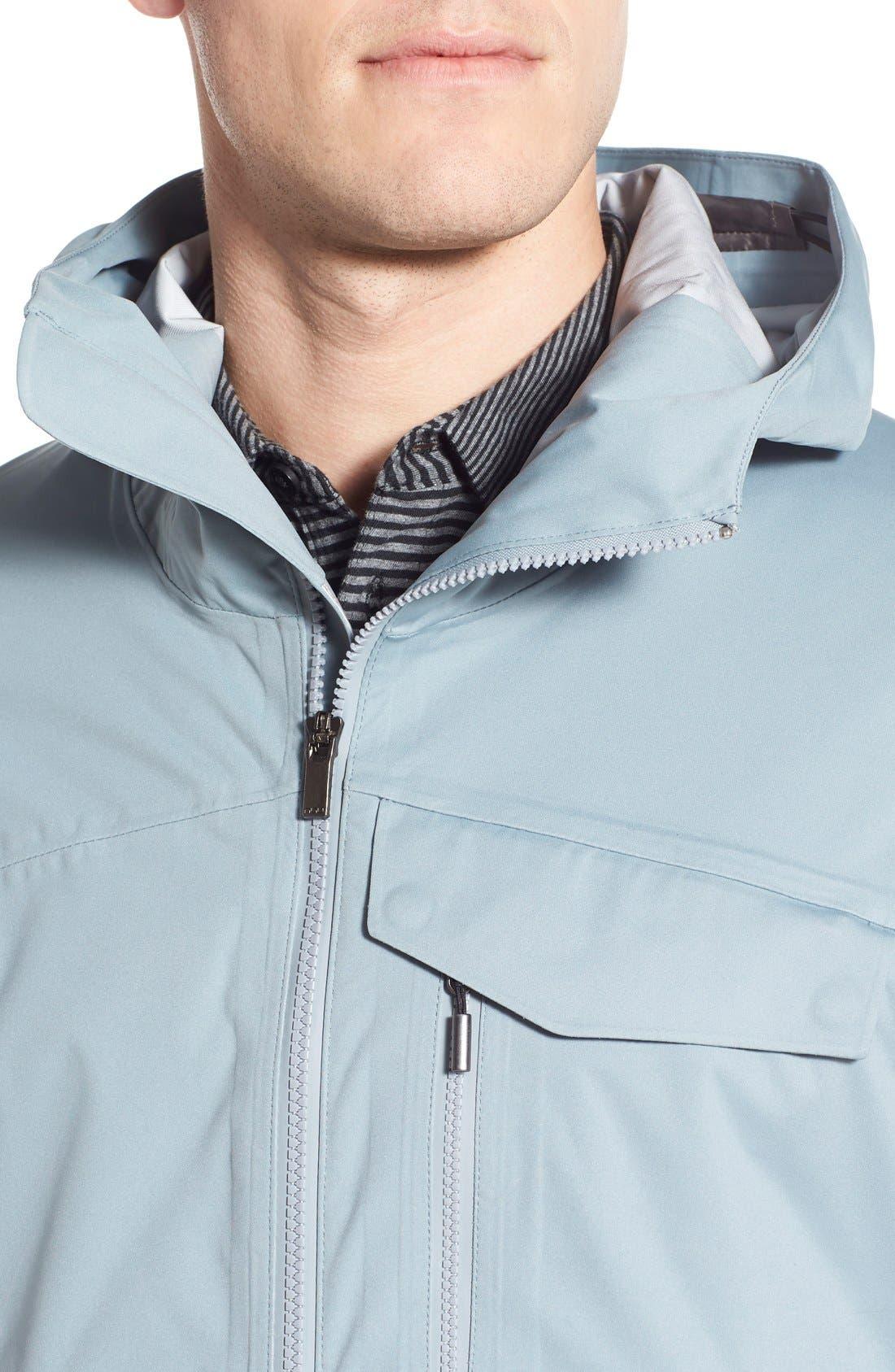 'Rebound' Regular Fit Zip Hooded Jacket,                             Alternate thumbnail 4, color,                             073