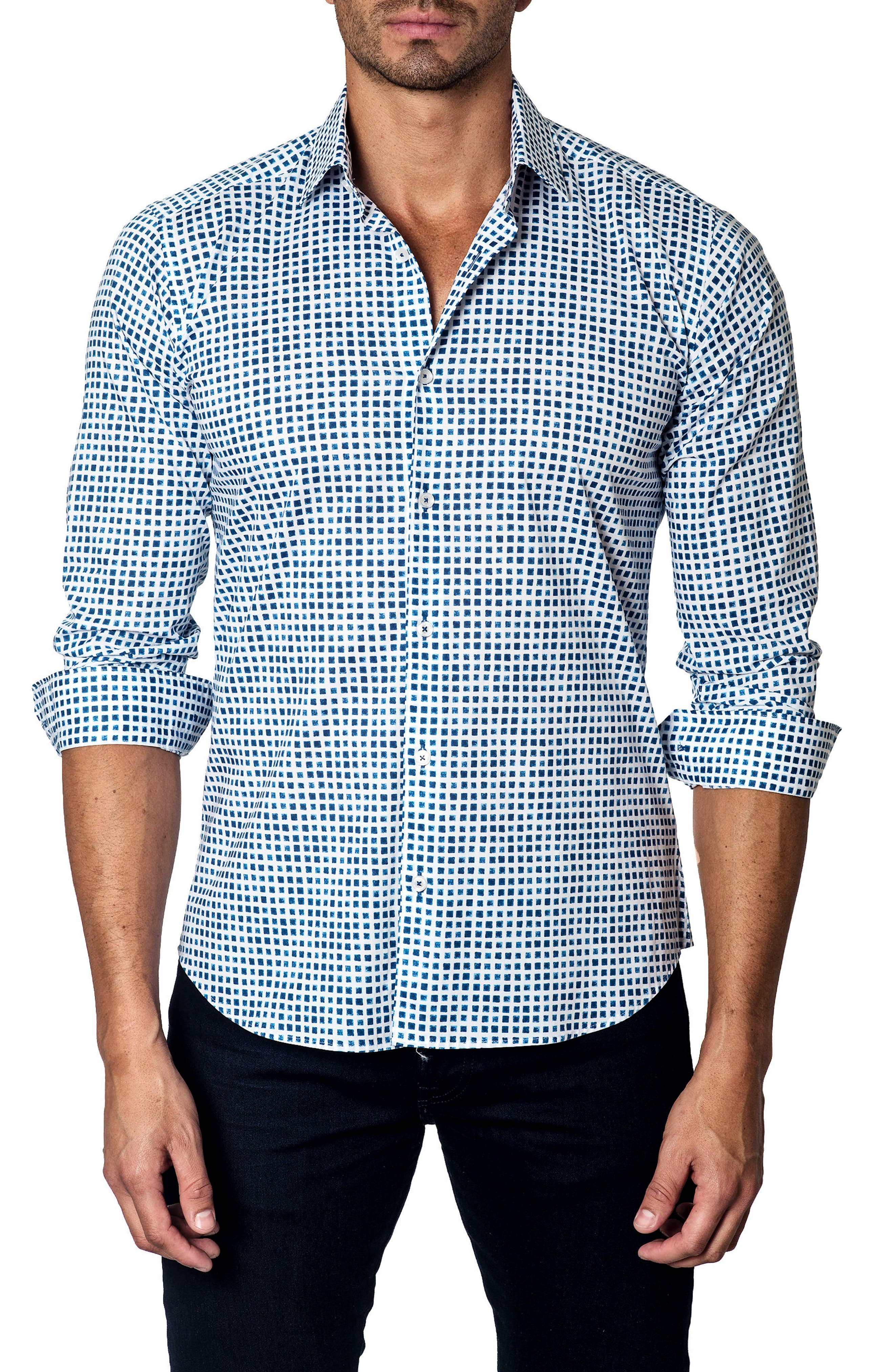 Check Sport Shirt,                         Main,                         color, 966