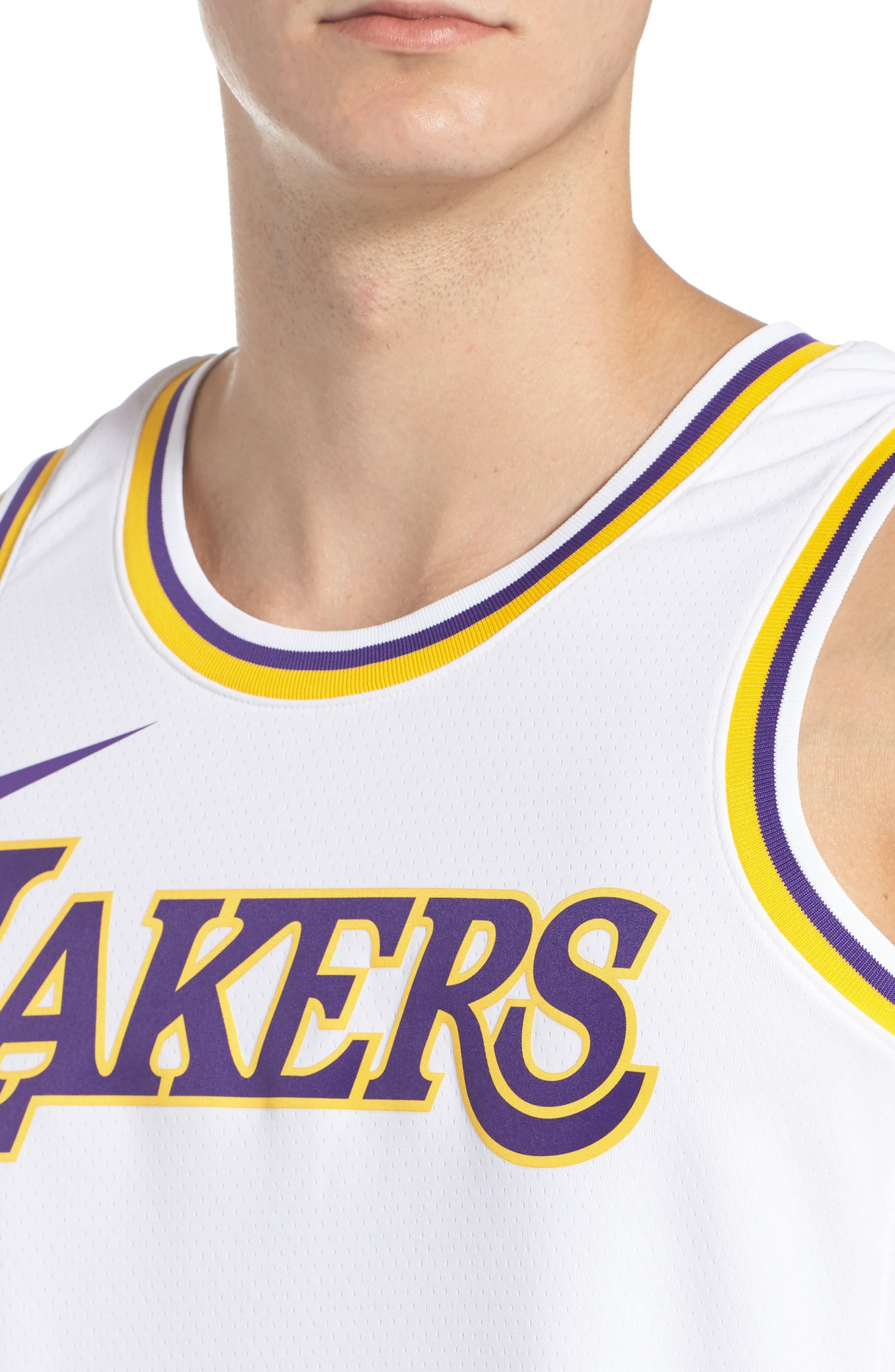 LA Lakers Swingman Home Jersey,                             Alternate thumbnail 4, color,                             100