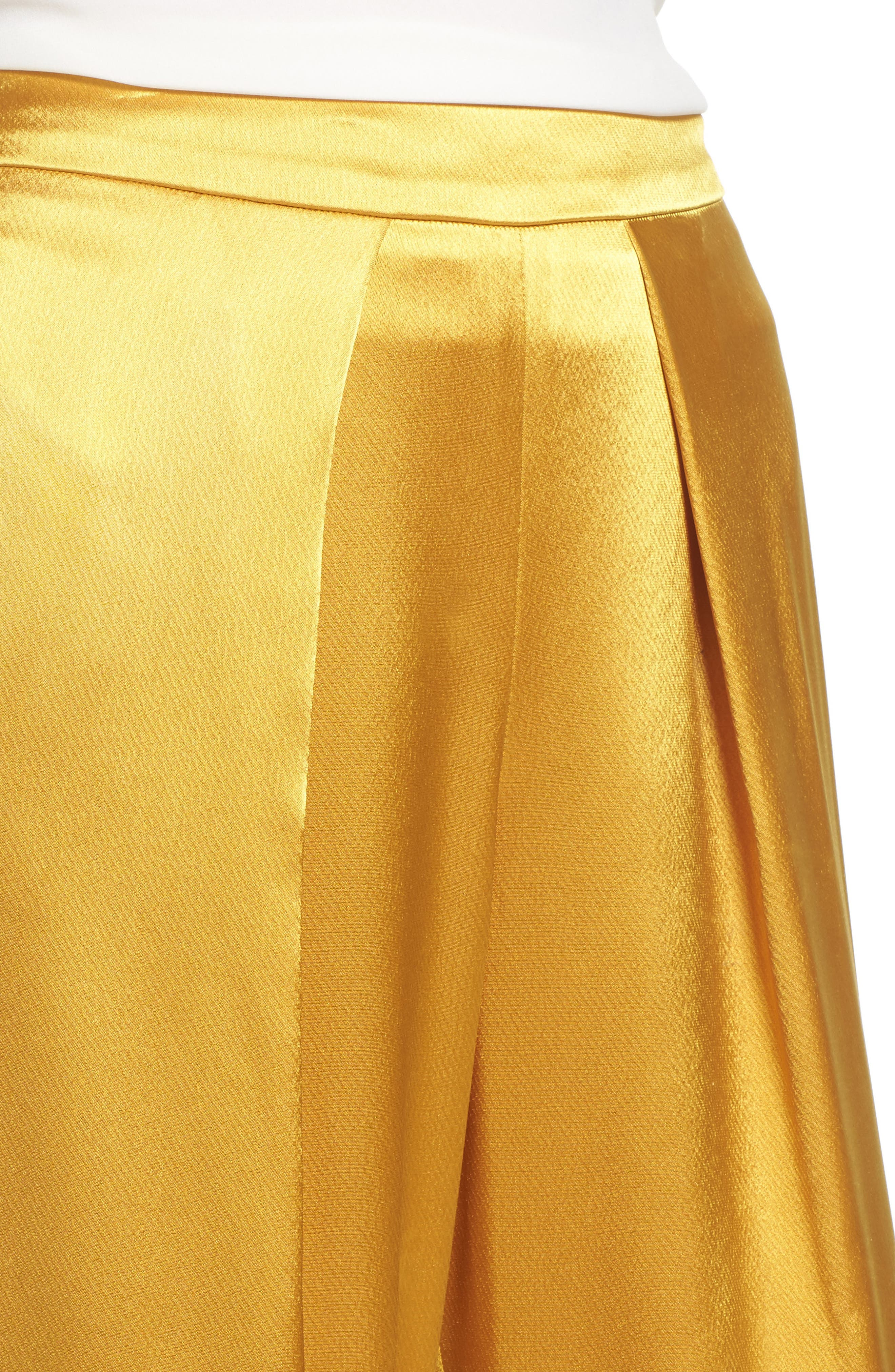 Fancy Pleated Front Satin Pants,                             Alternate thumbnail 4, color,                             700