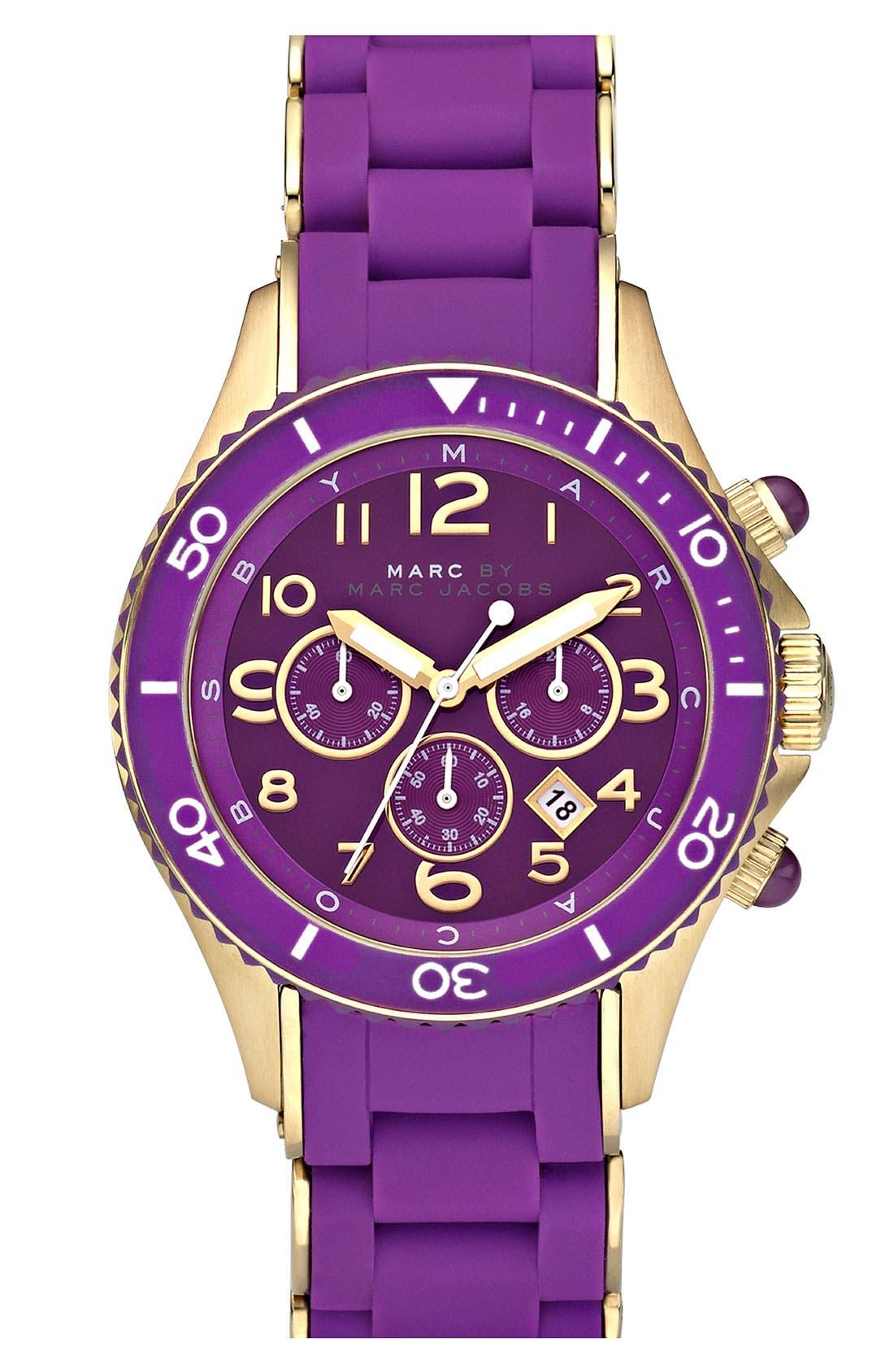 'Rock' Chronograph Silicone Bracelet Watch, 40mm,                             Main thumbnail 13, color,