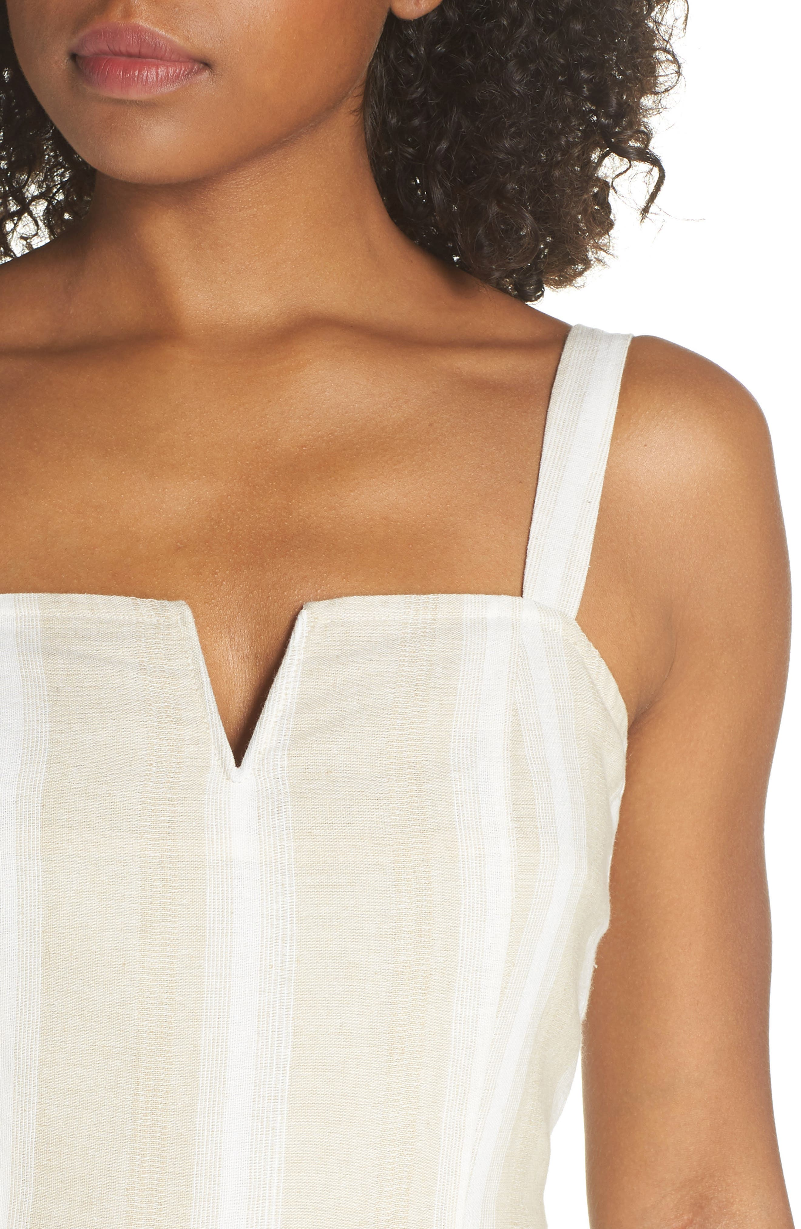 Peekabo Stripe Midi Dress,                             Alternate thumbnail 4, color,                             250