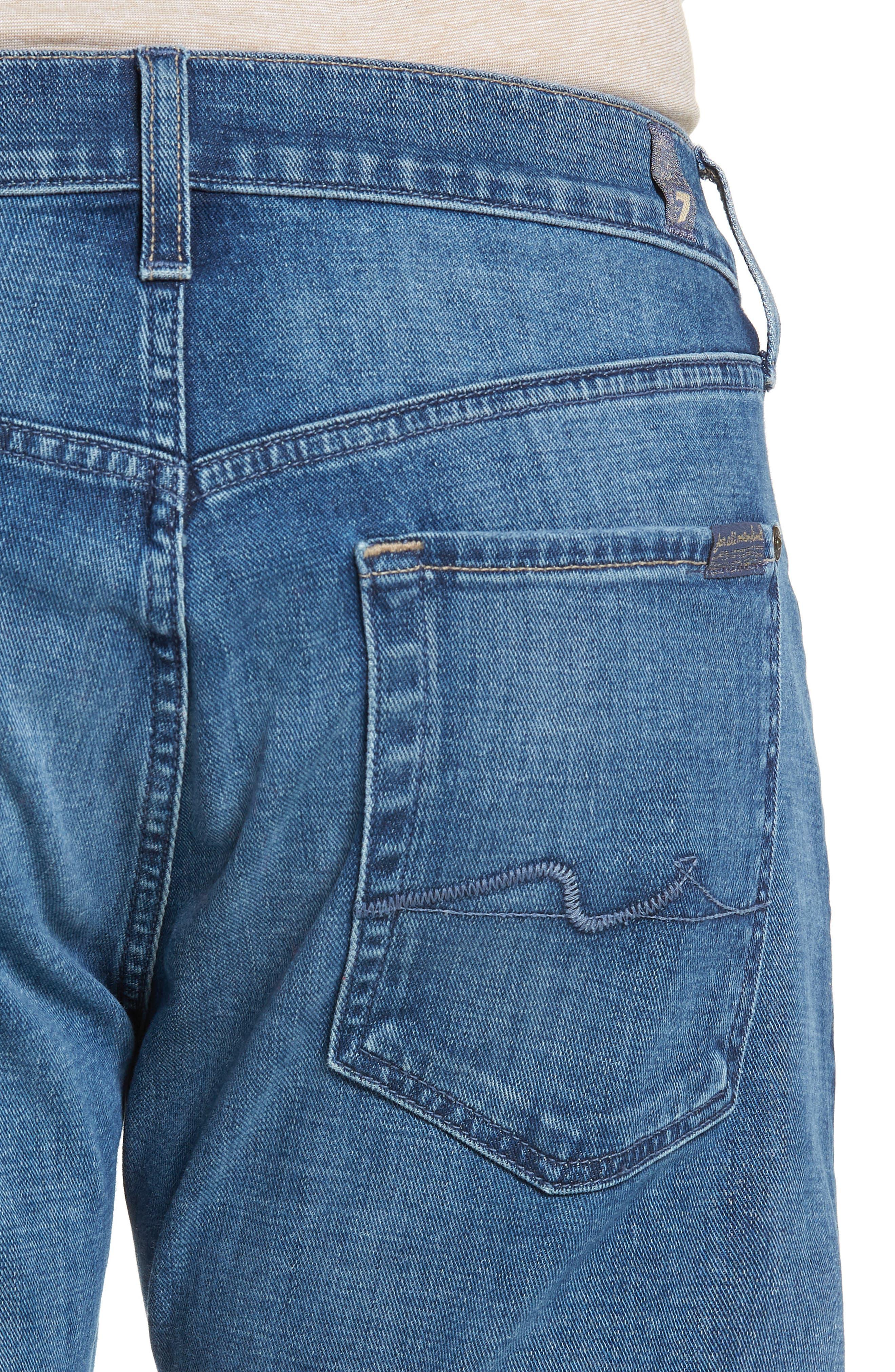 Straight Slim Straight Leg Jeans,                             Alternate thumbnail 4, color,                             LYNNWOOD-LYNN