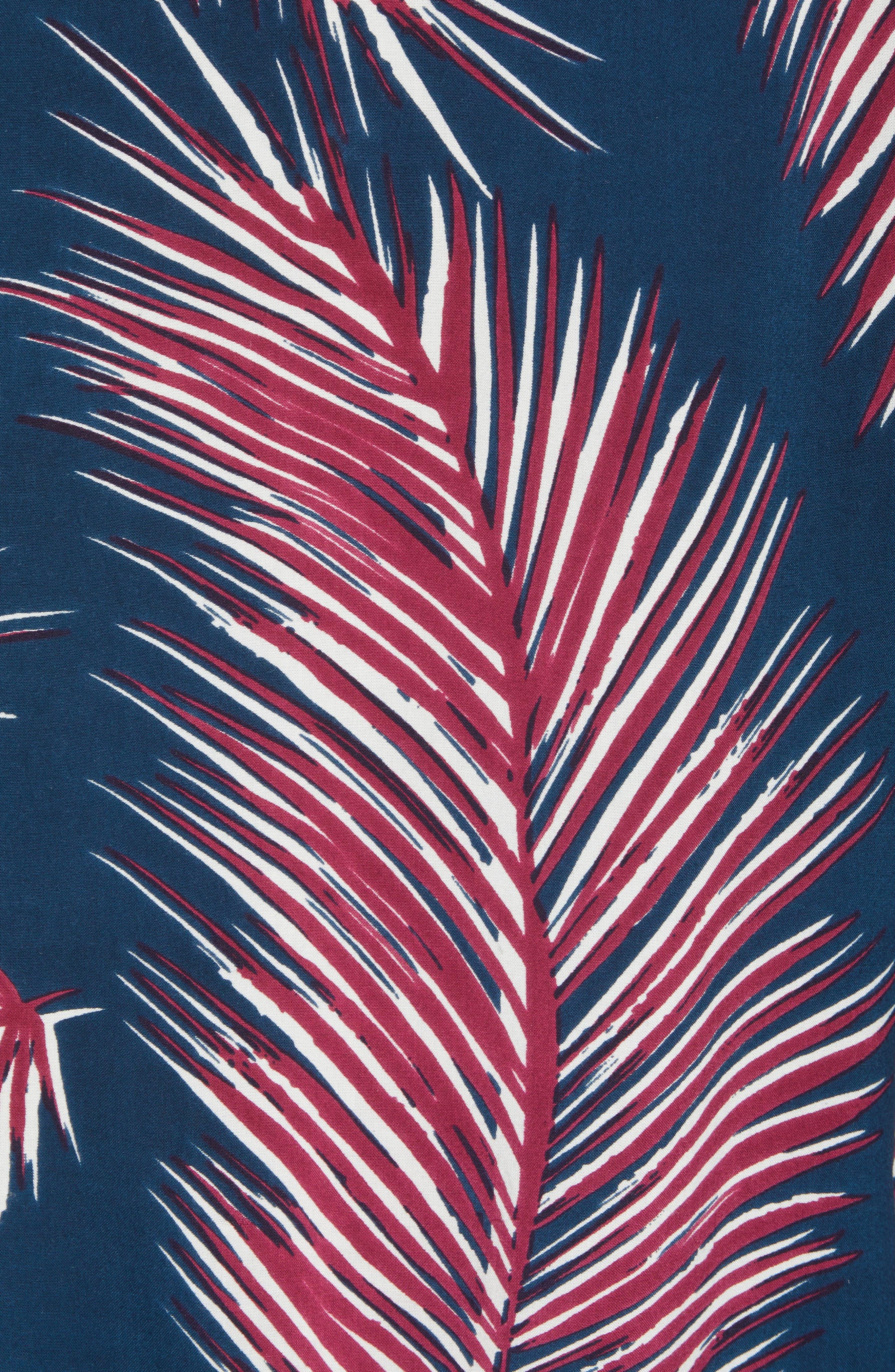 Giant Palms Woven Shirt,                             Alternate thumbnail 5, color,