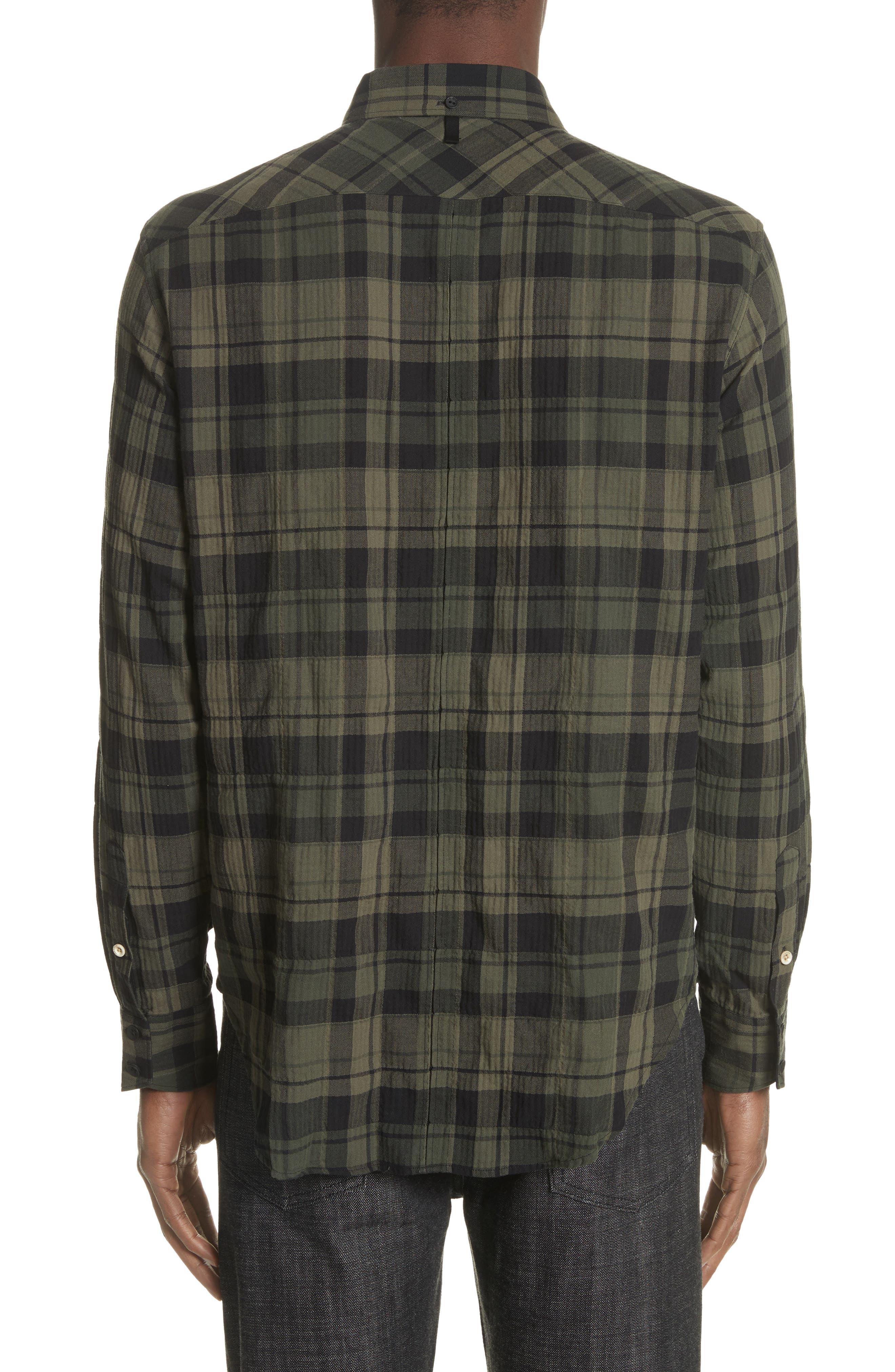 Fit 3 Base Plaid Flannel Shirt,                             Alternate thumbnail 3, color,