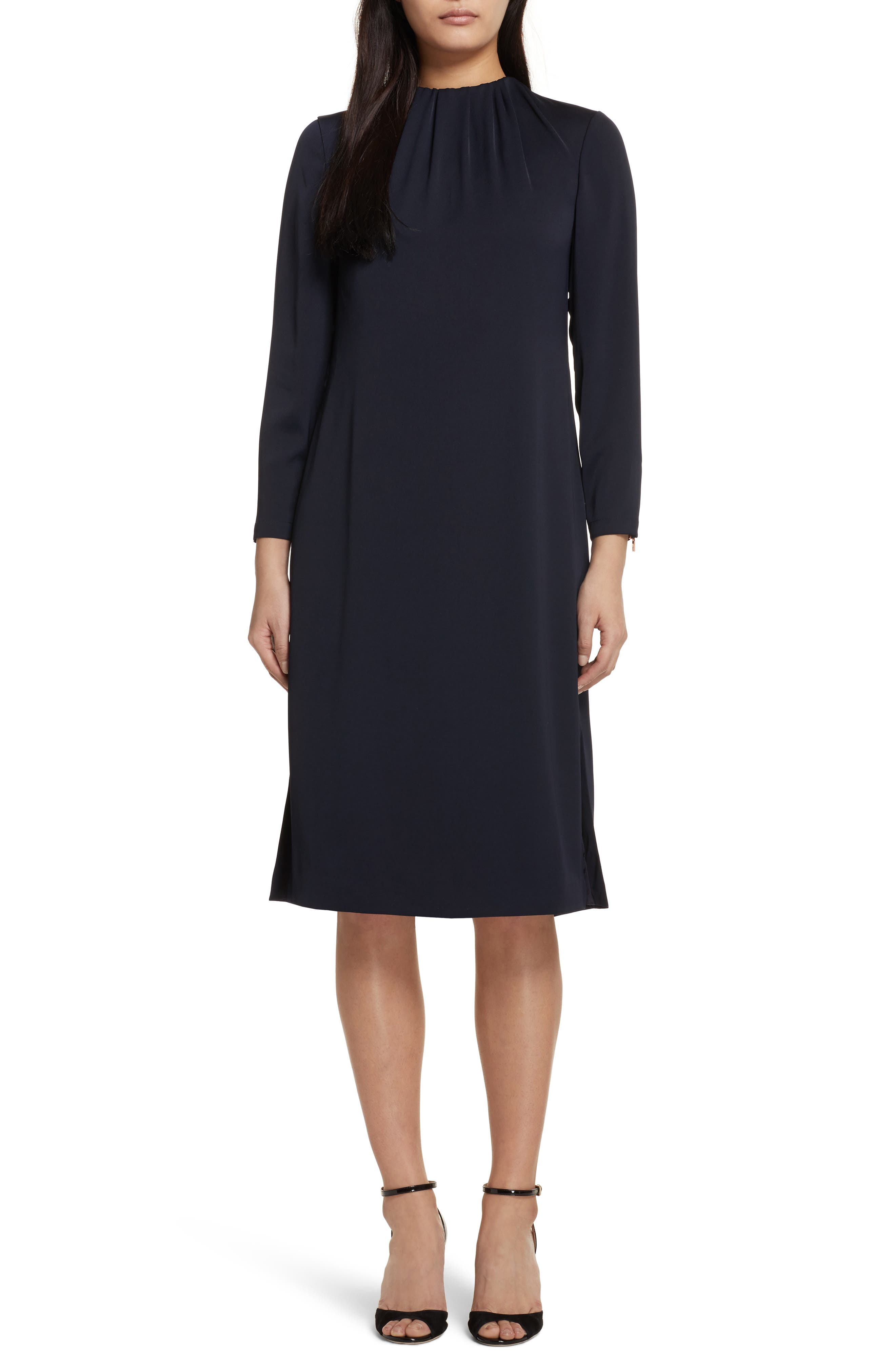 Ruched Neck Dress,                         Main,                         color, 402