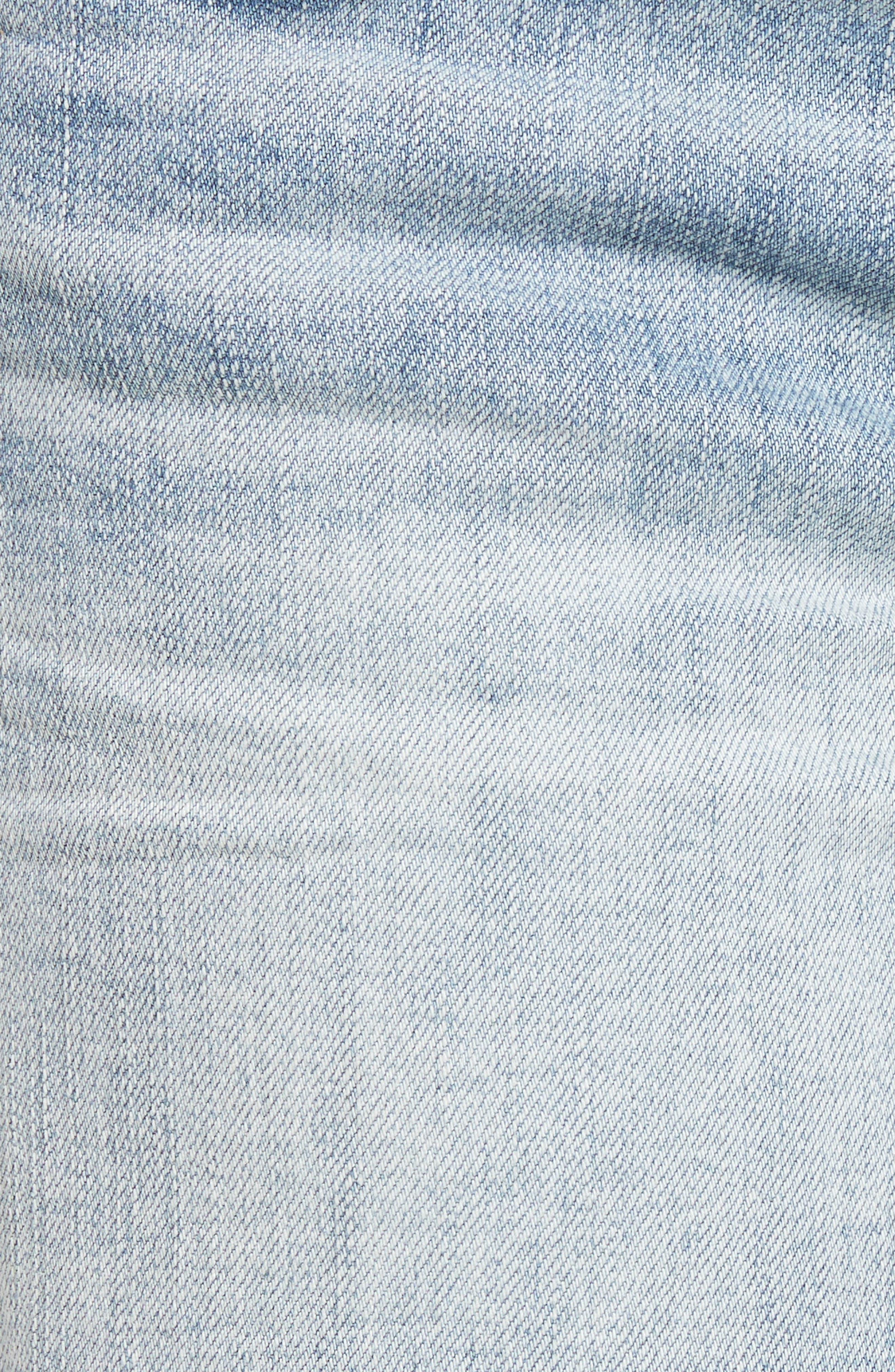 Gidget Cutoff Denim Shorts,                             Alternate thumbnail 6, color,                             470