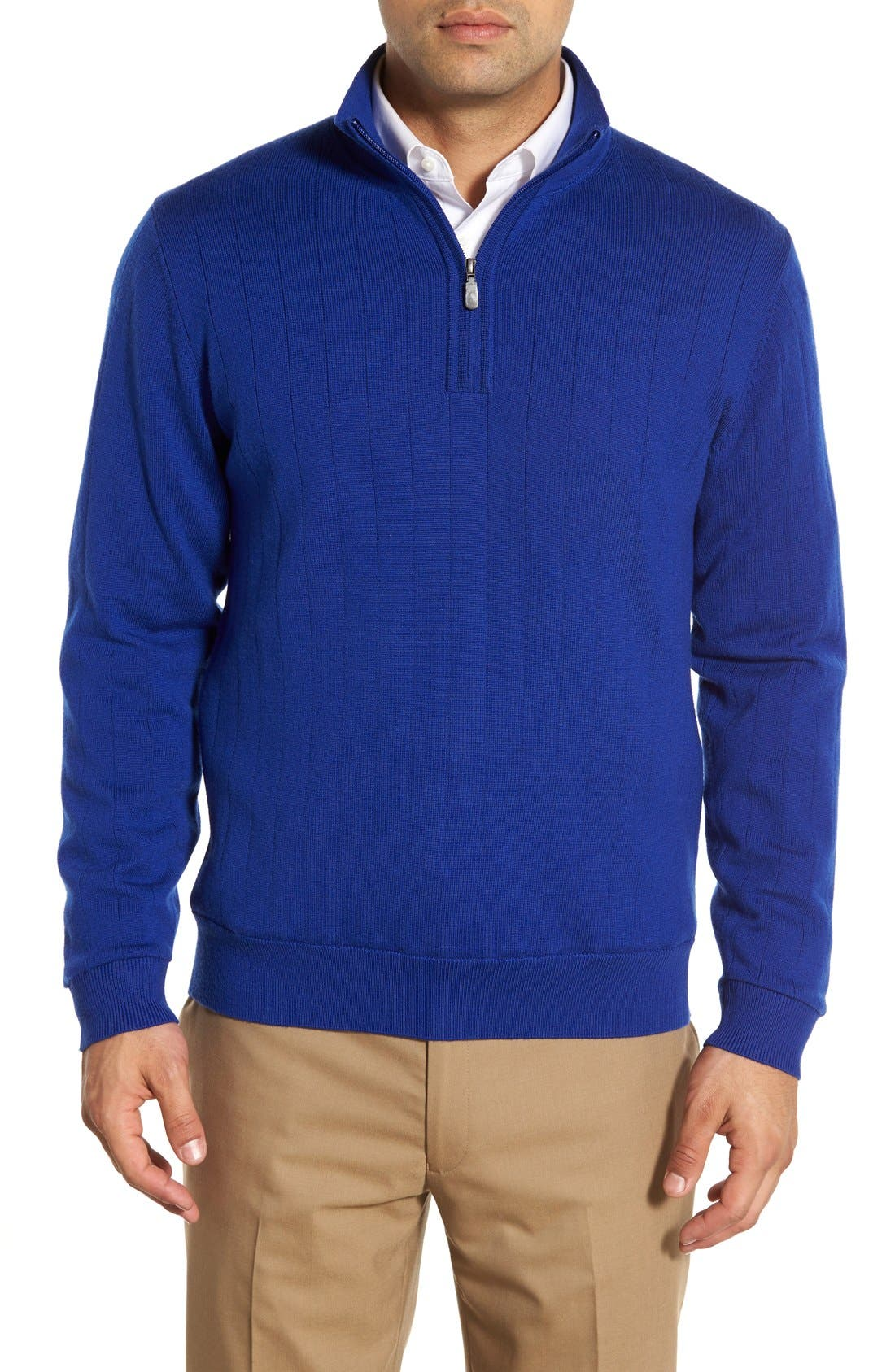 Windproof Merino Wool Quarter Zip Sweater,                         Main,                         color, 401