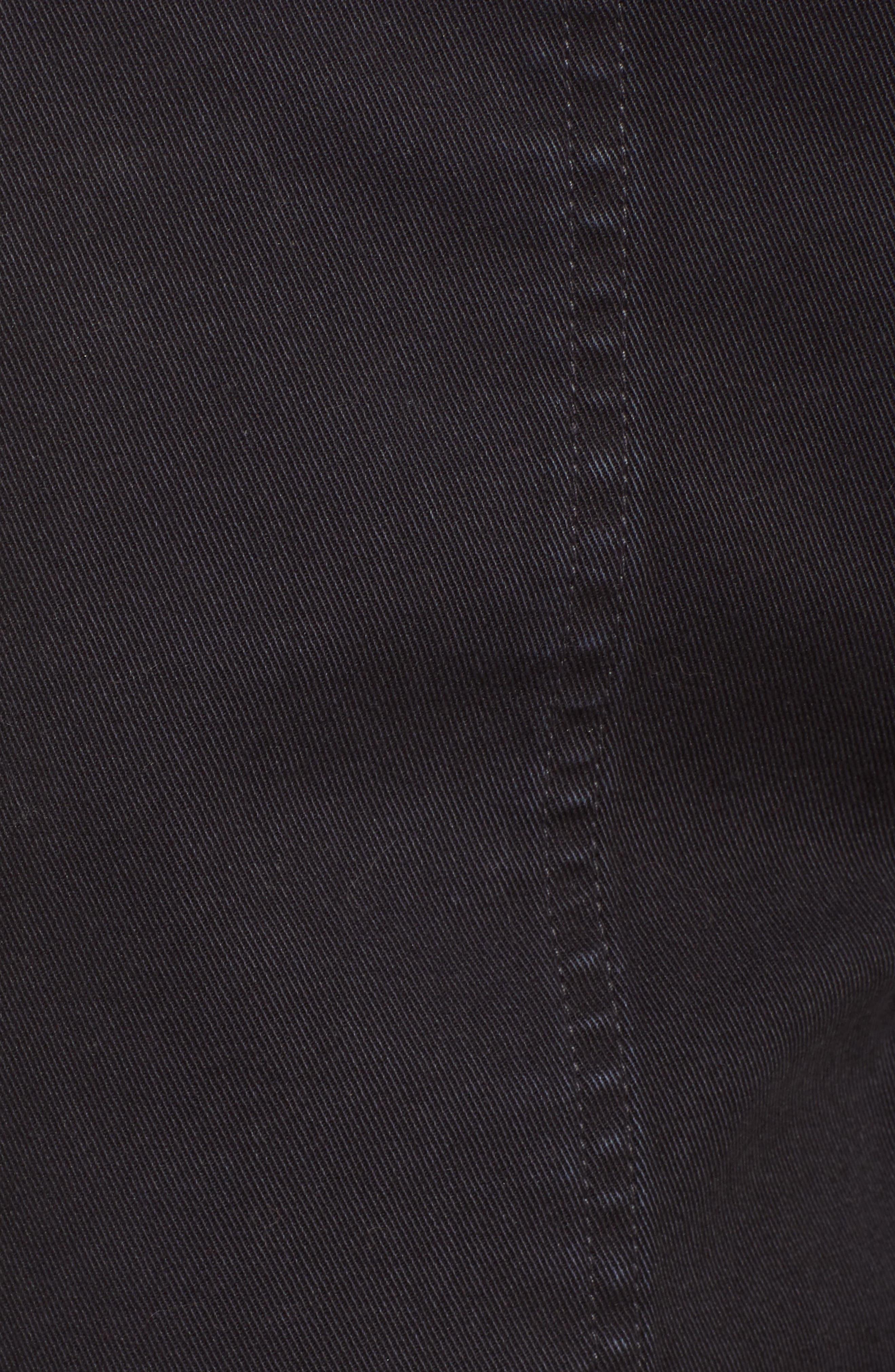 Uniform Stripe Step Hem Pants,                             Alternate thumbnail 6, color,                             VINTAGE BLACK