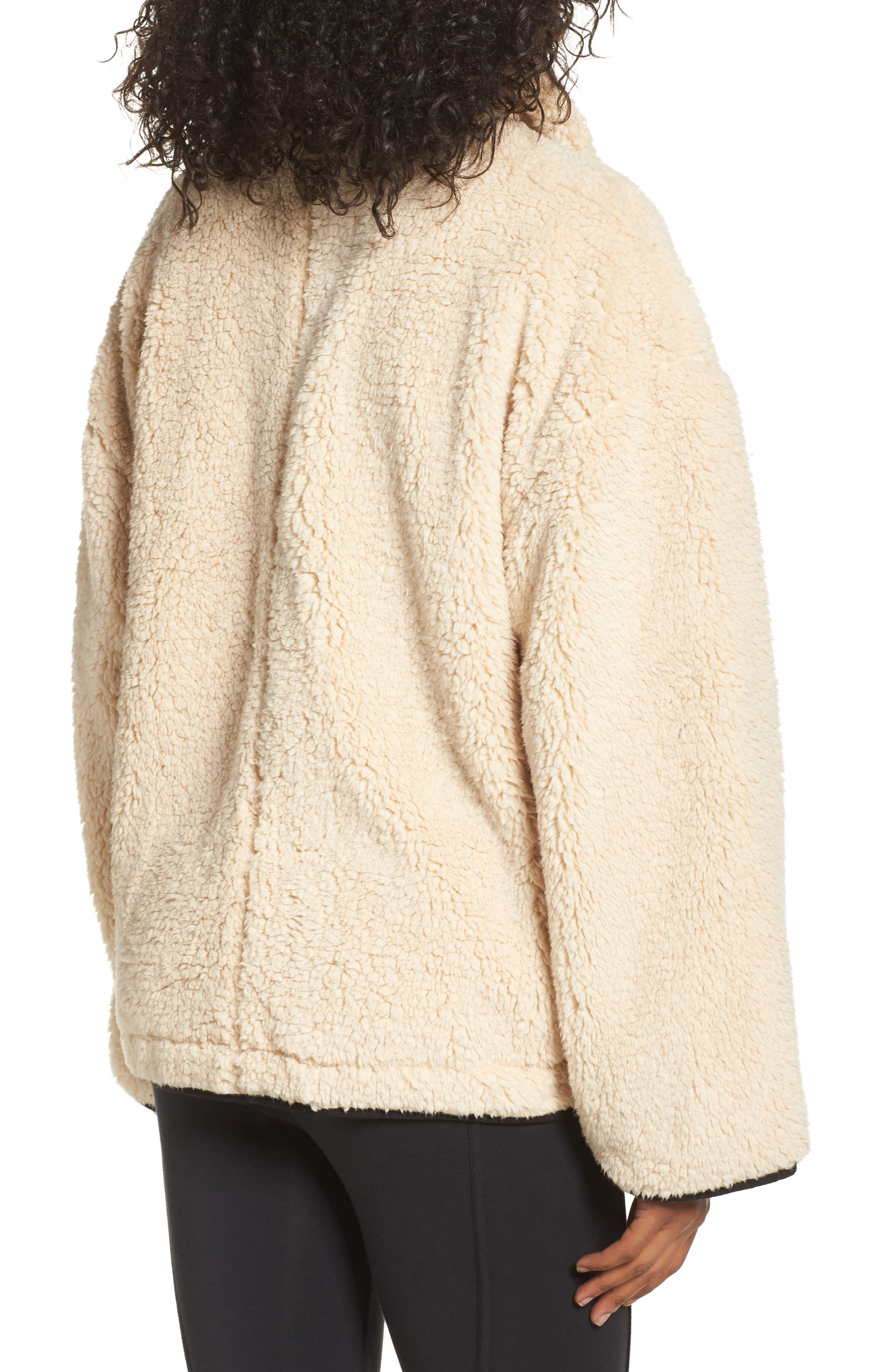 Free People Oh So Cozy Fleece Pullover,                             Alternate thumbnail 4, color,