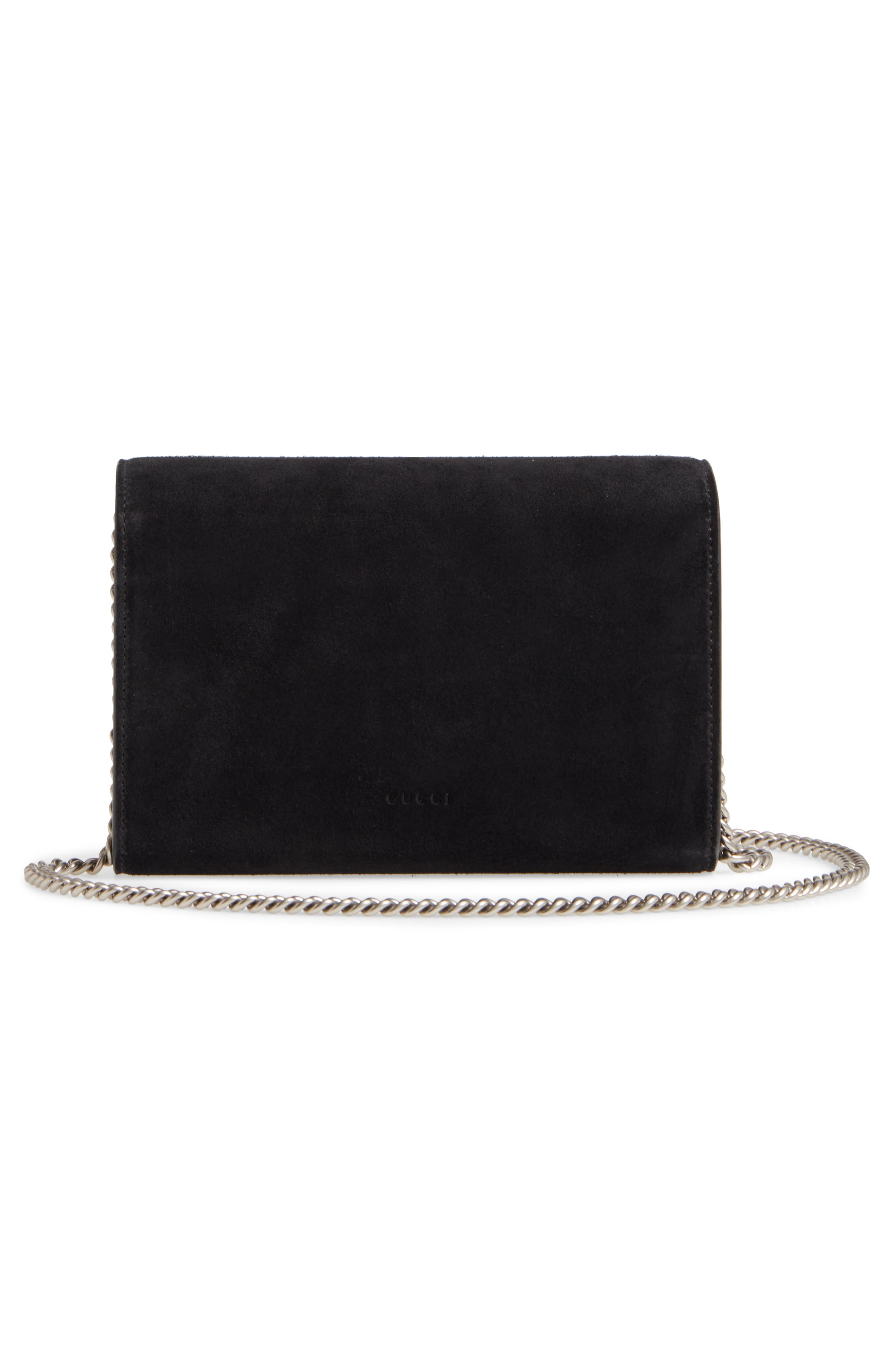 Dionysus Suede Wallet on a Chain,                             Alternate thumbnail 3, color,