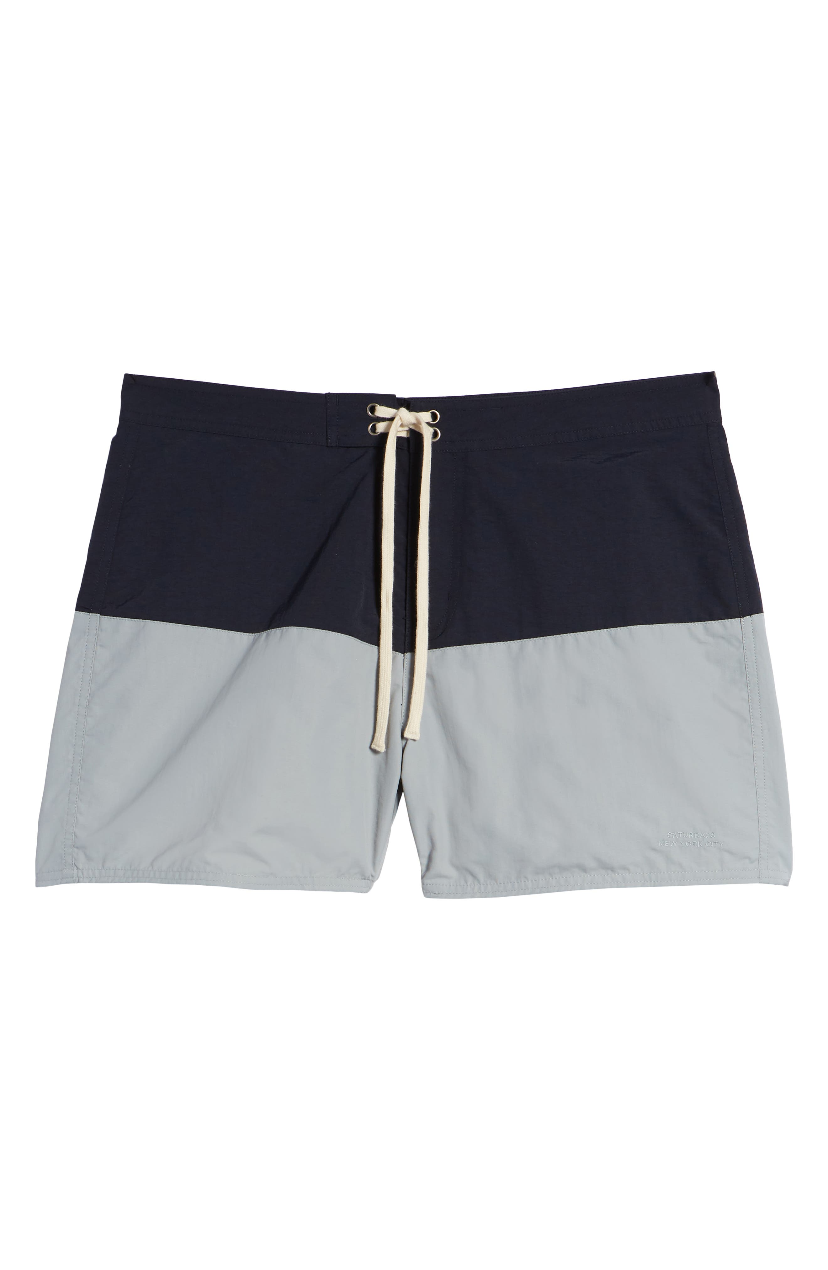 Ennis Board Shorts,                             Alternate thumbnail 6, color,                             MIDNIGHT/ STONE BLUE