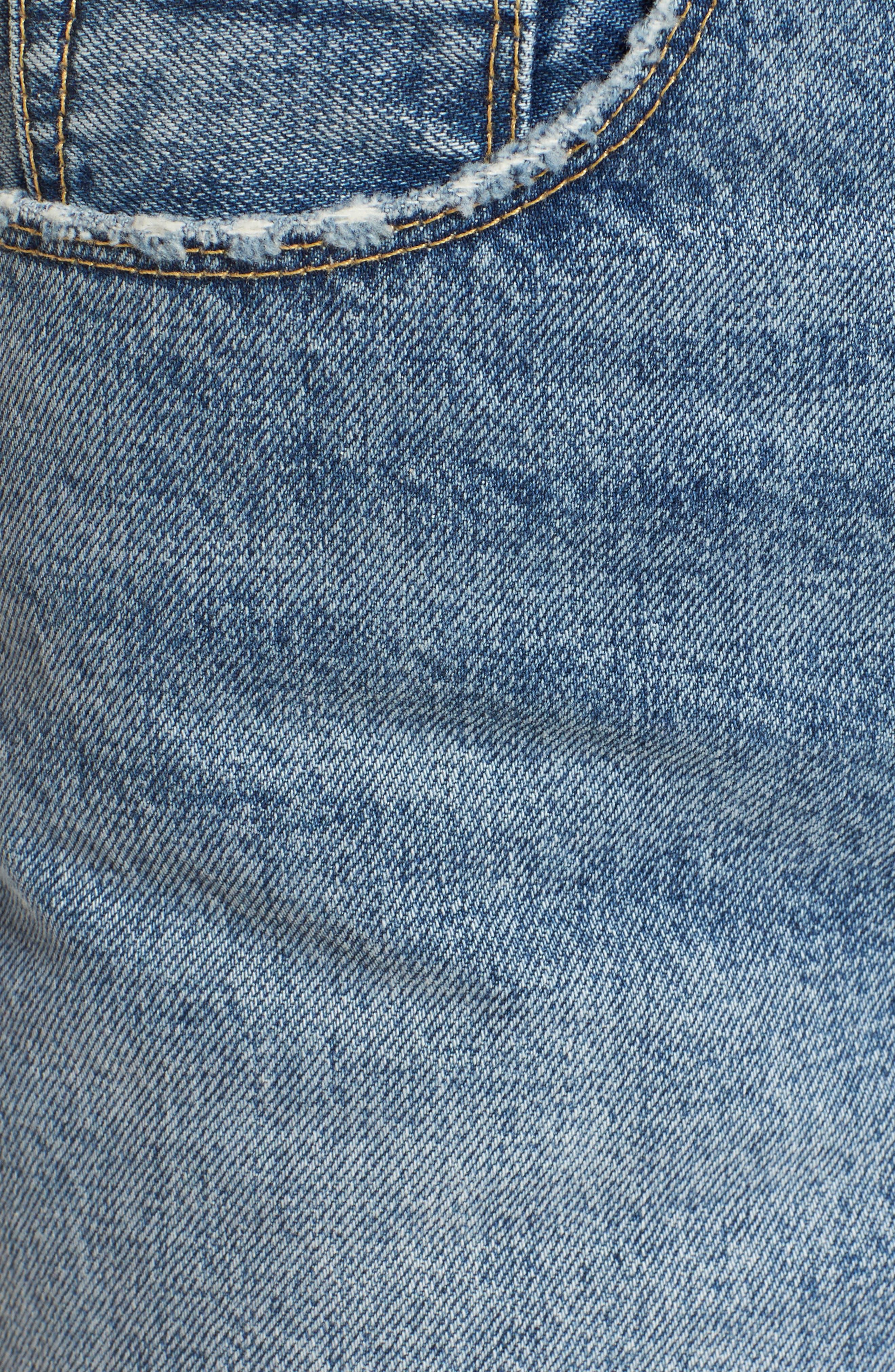 High Waist Cutoff Denim Shorts,                             Alternate thumbnail 6, color,                             420