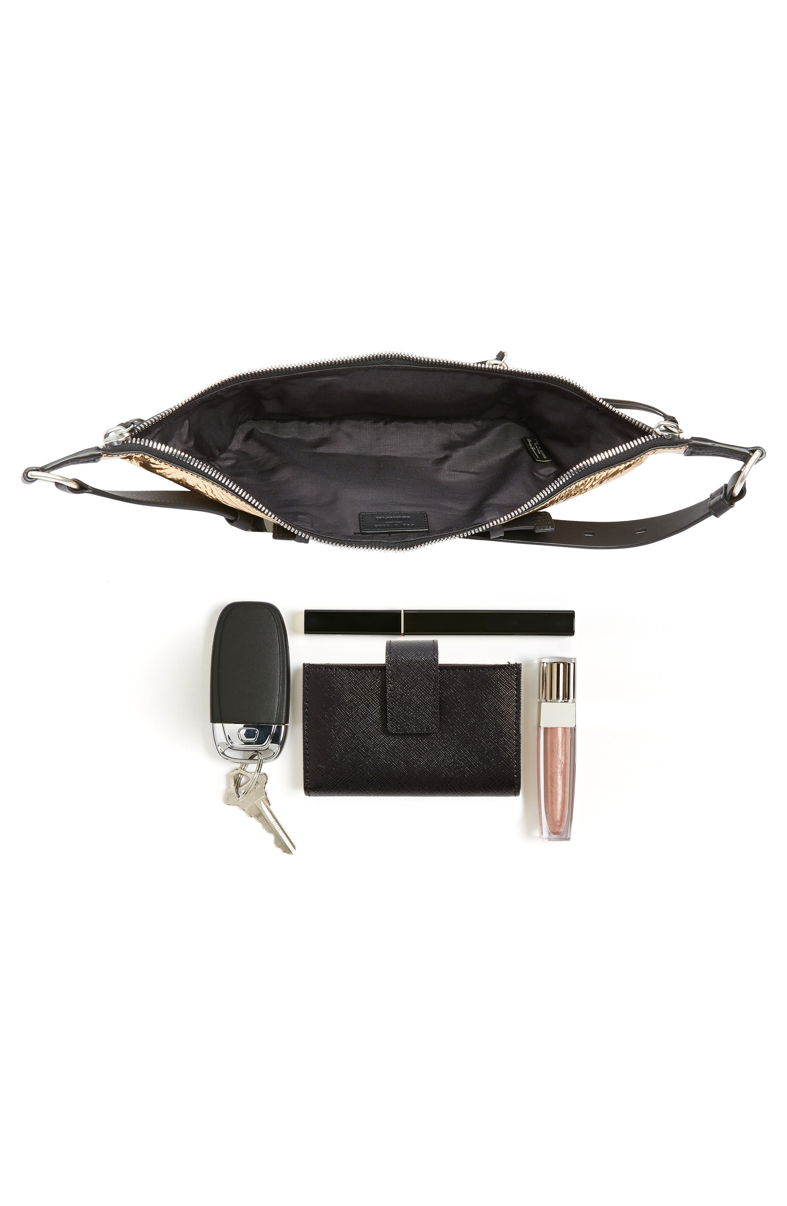 Small Elliot Leather Fanny Pack,                             Alternate thumbnail 8, color,                             712