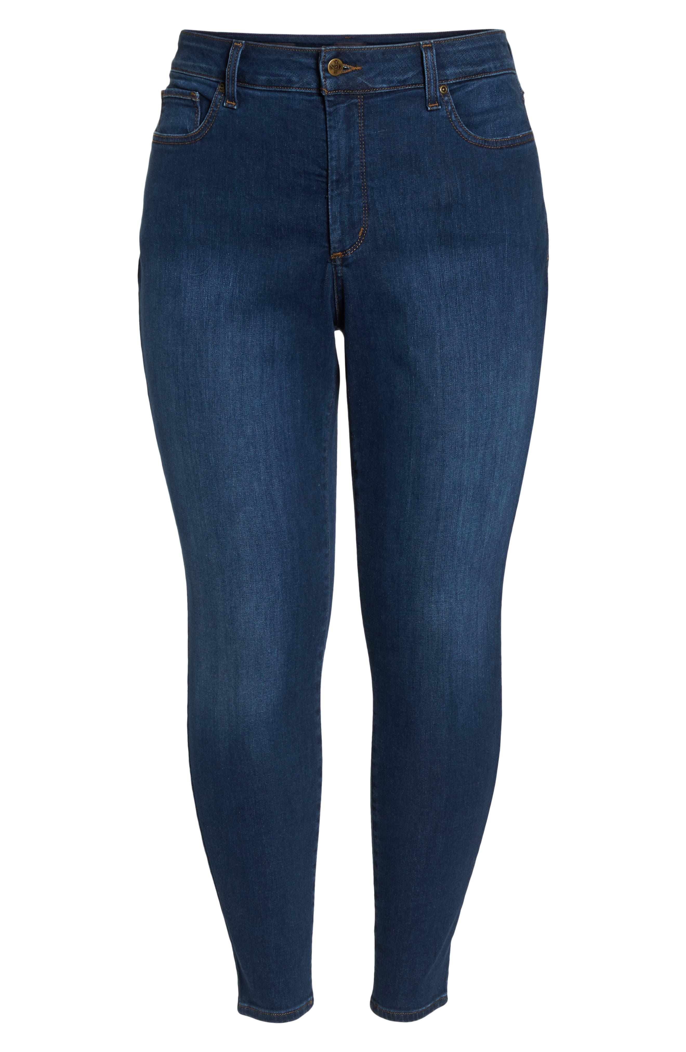 Ami Stretch Skinny Jeans,                             Alternate thumbnail 7, color,                             COOPER