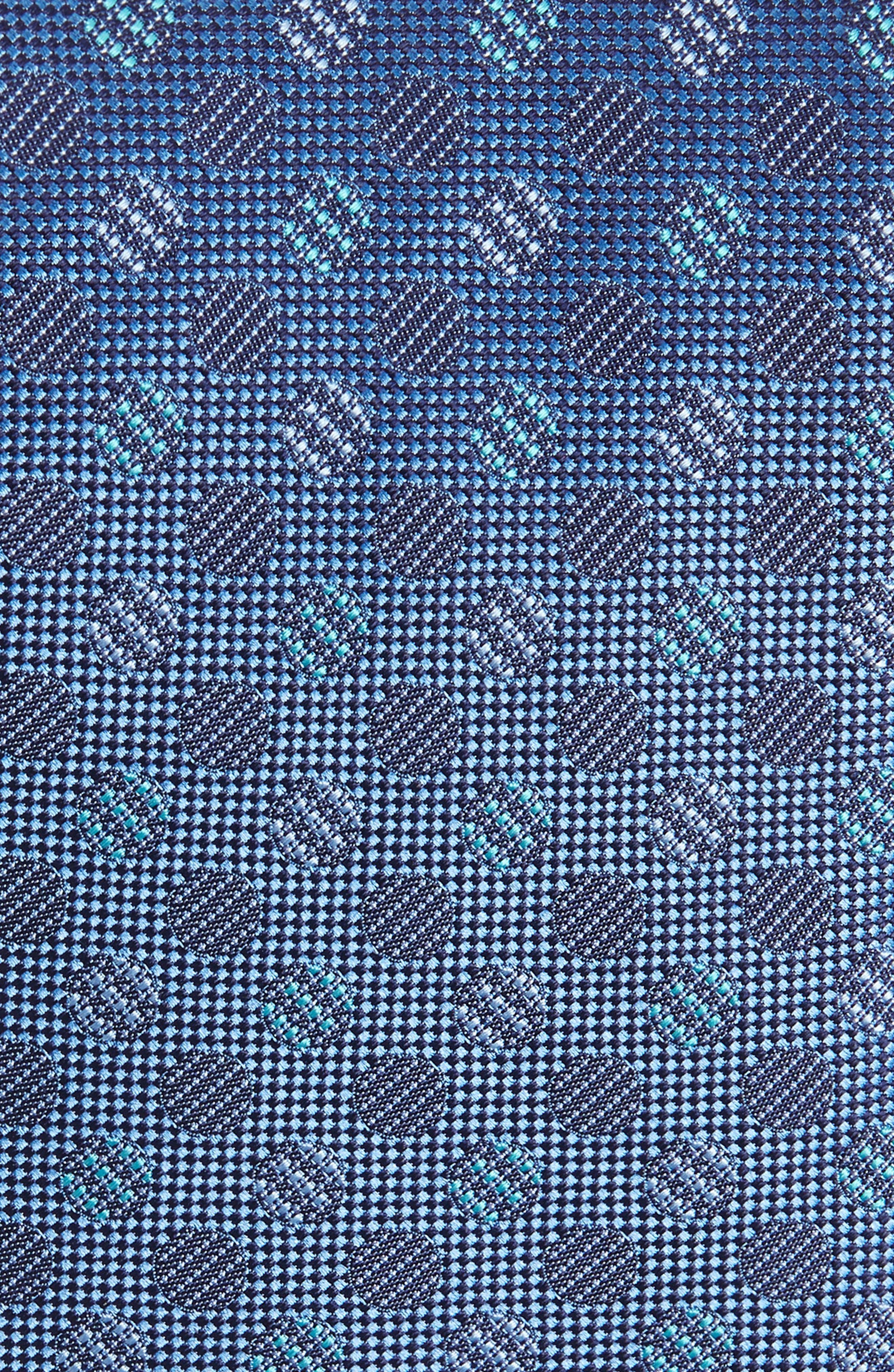 Geometric Silk Tie,                             Alternate thumbnail 2, color,                             NAVY