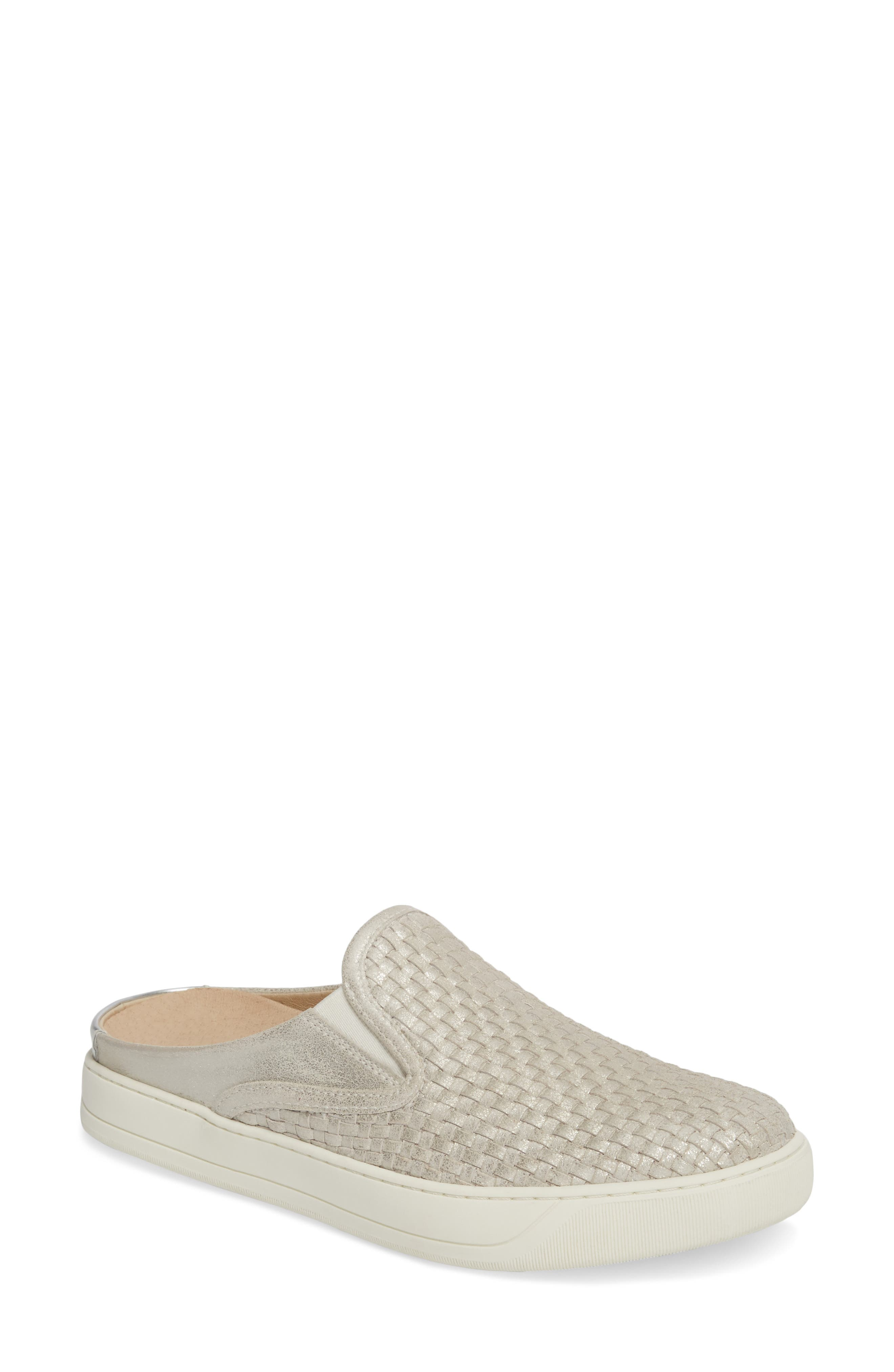 Evie Slip-On Sneaker,                             Main thumbnail 1, color,                             ICE LEATHER
