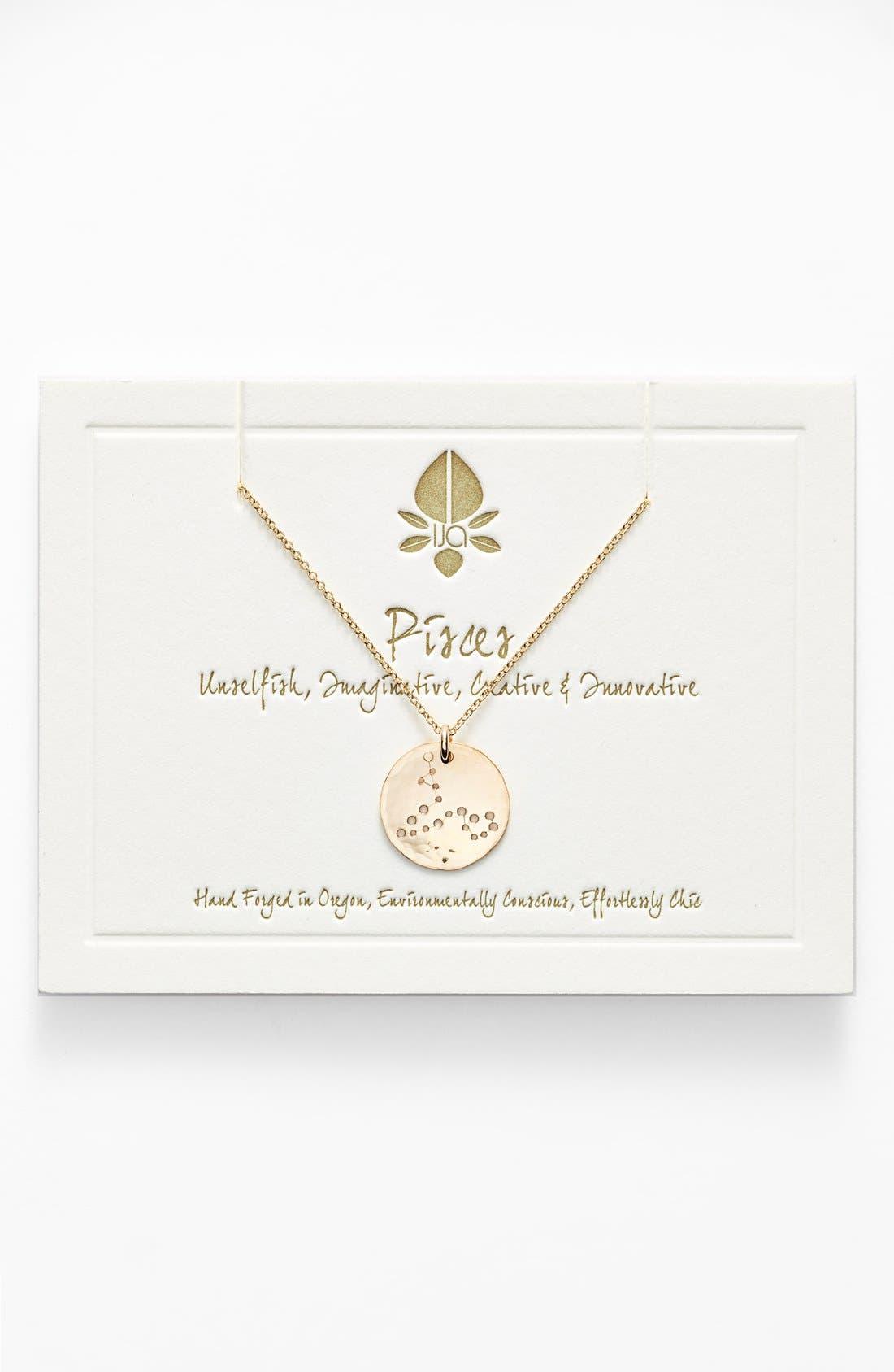 Ija 'Small Zodiac' 14k-Gold Fill Necklace,                             Main thumbnail 12, color,