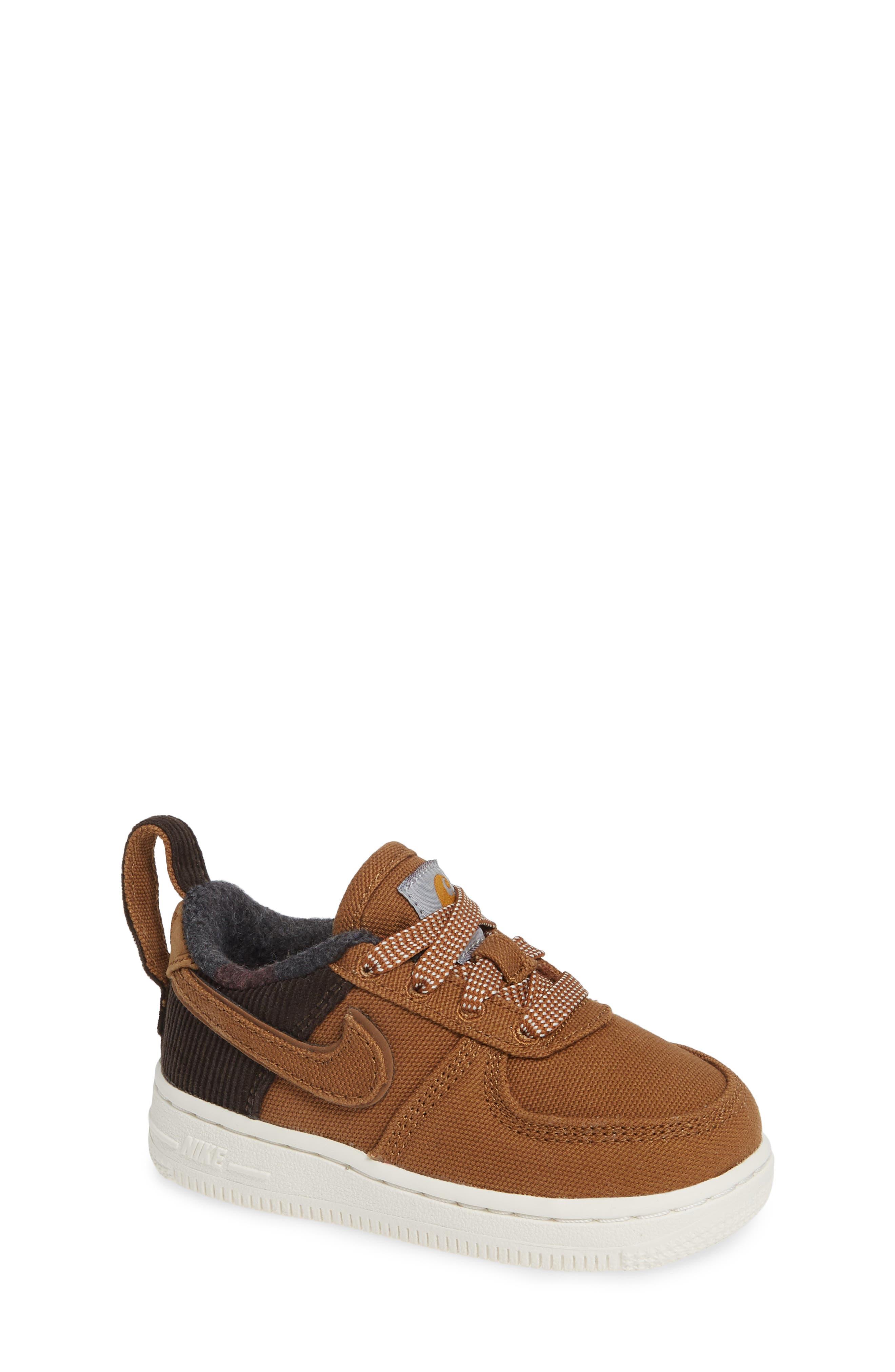 x Carhartt Air Force 1 Premium Sneaker,                             Main thumbnail 1, color,                             ALE BROWN/ ALE BROWN-SAIL