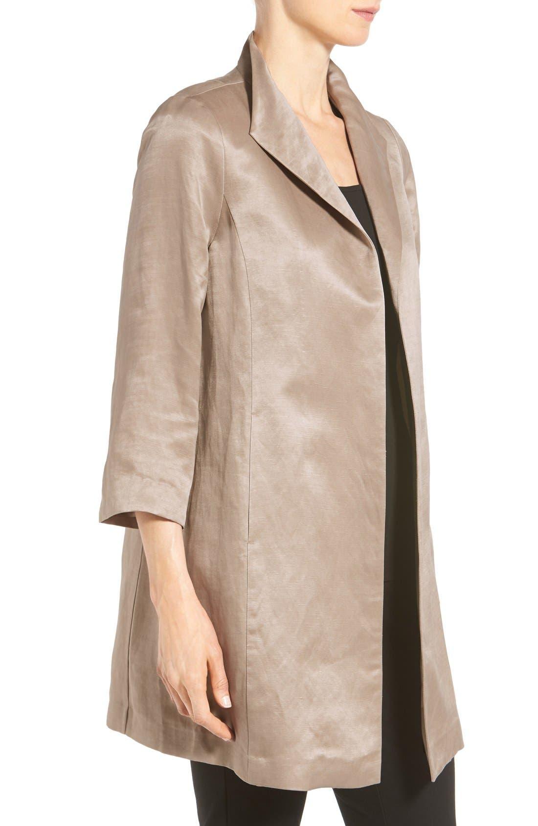 High Collar Long Jacket,                             Alternate thumbnail 15, color,