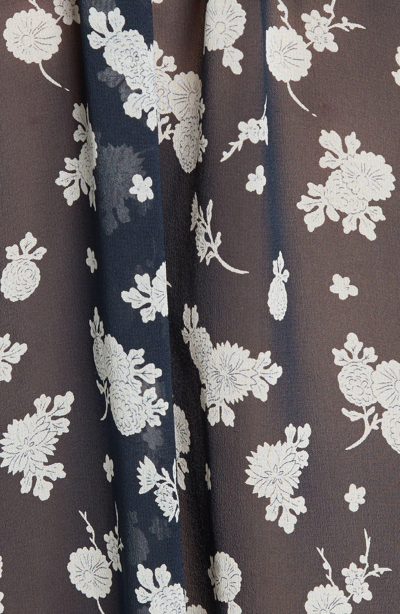 VINCE,                             Calico Floral Print Silk Blouse,                             Alternate thumbnail 3, color,                             403