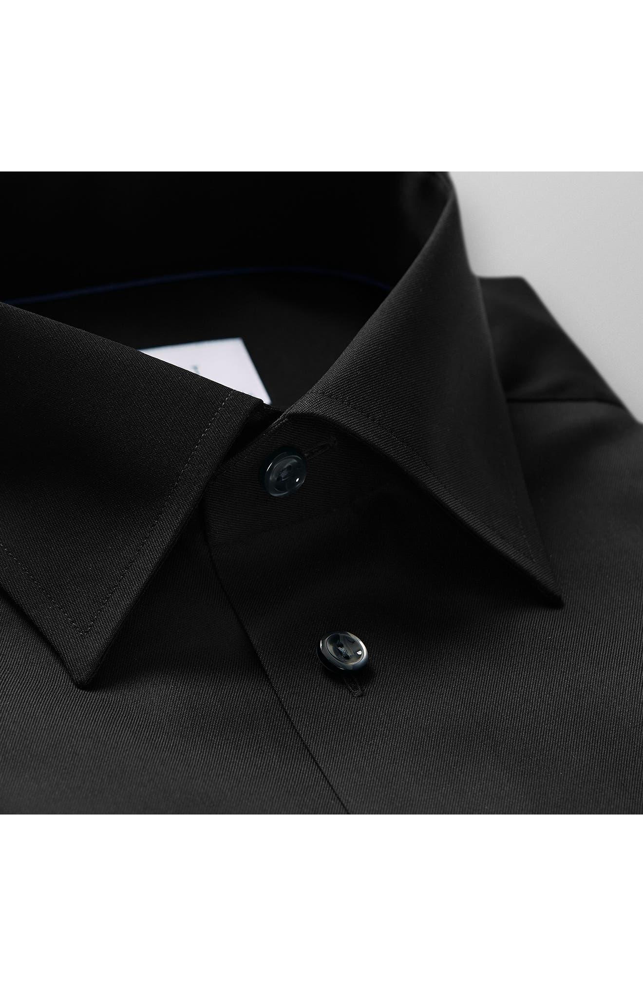 Classic Fit Twill Dress Shirt,                             Alternate thumbnail 2, color,                             001