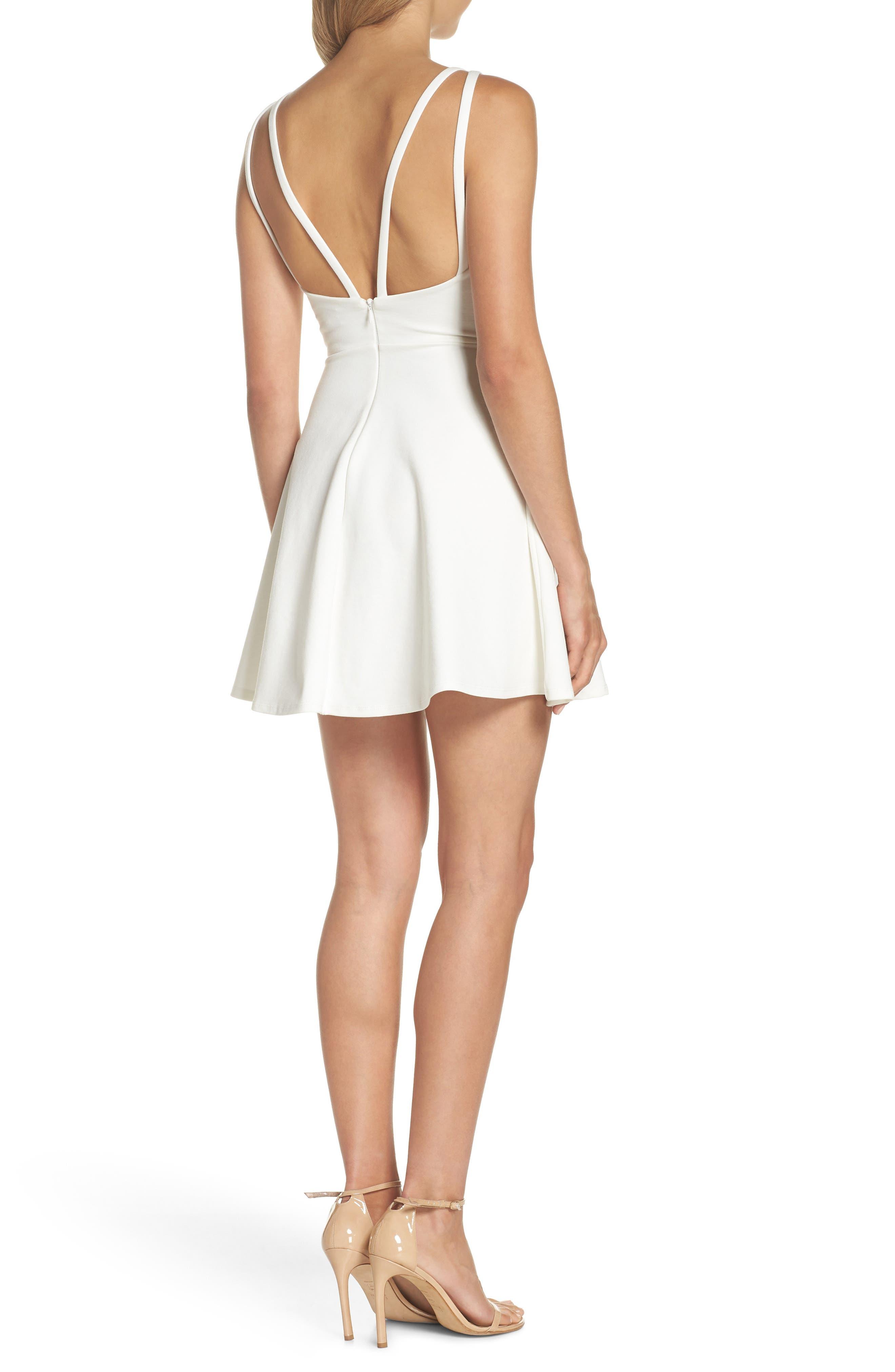 Love Galore Skater Dress,                             Alternate thumbnail 2, color,                             WHITE