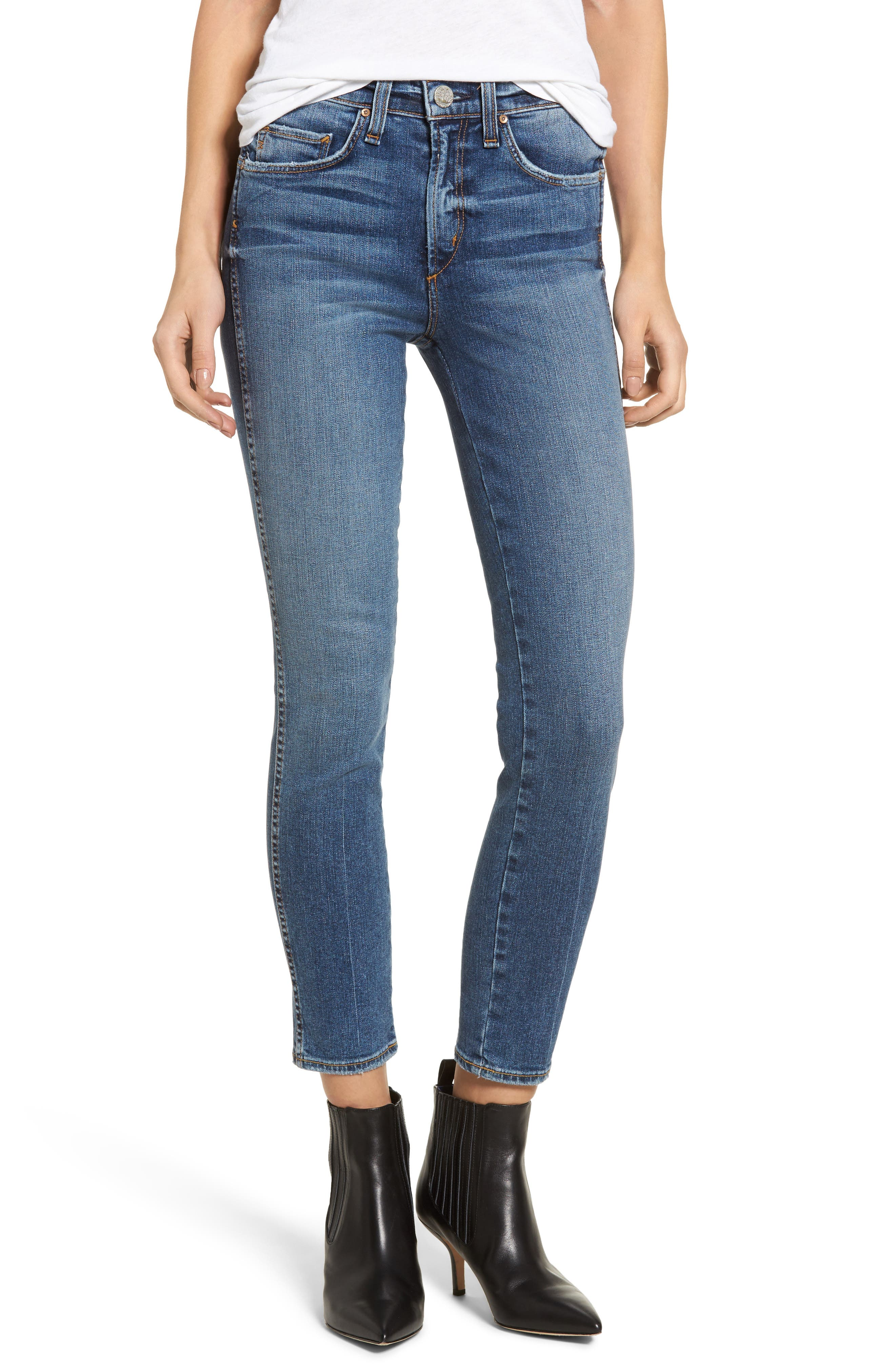 Windsor Destroyed High Waist Straight Leg Jeans,                         Main,                         color, 430