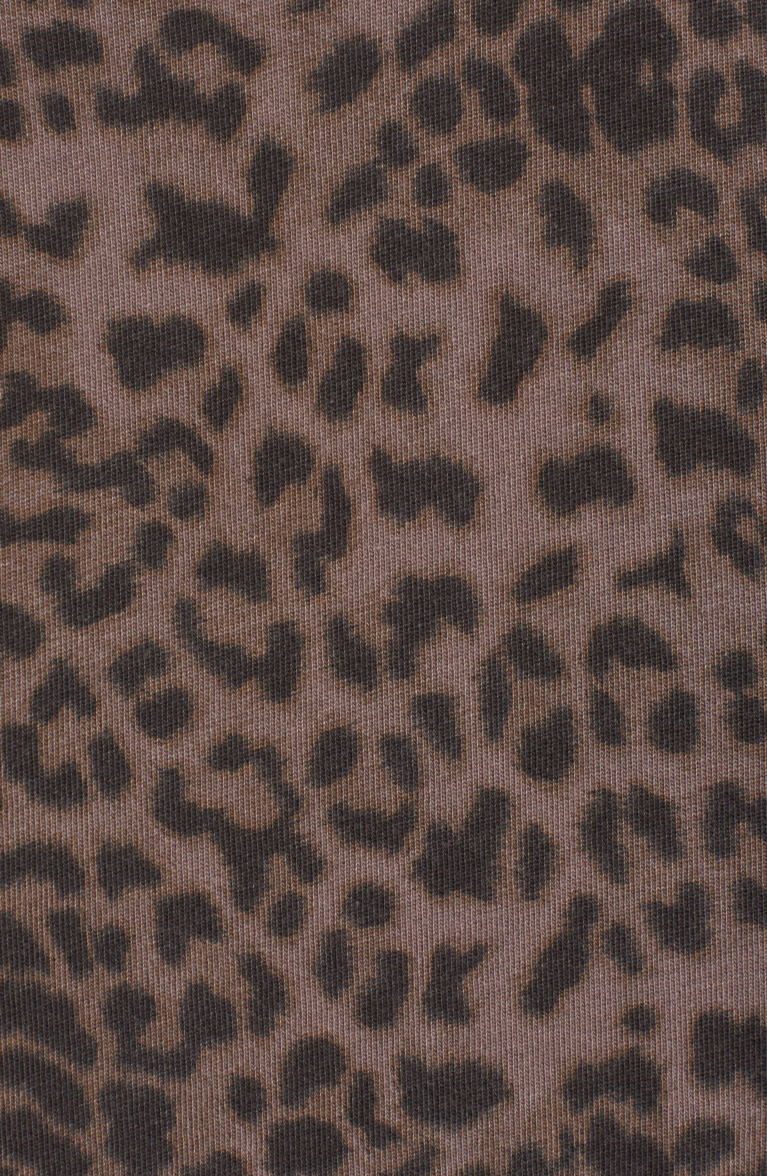 Leopard Spot Crop Hoodie,                             Alternate thumbnail 5, color,                             200