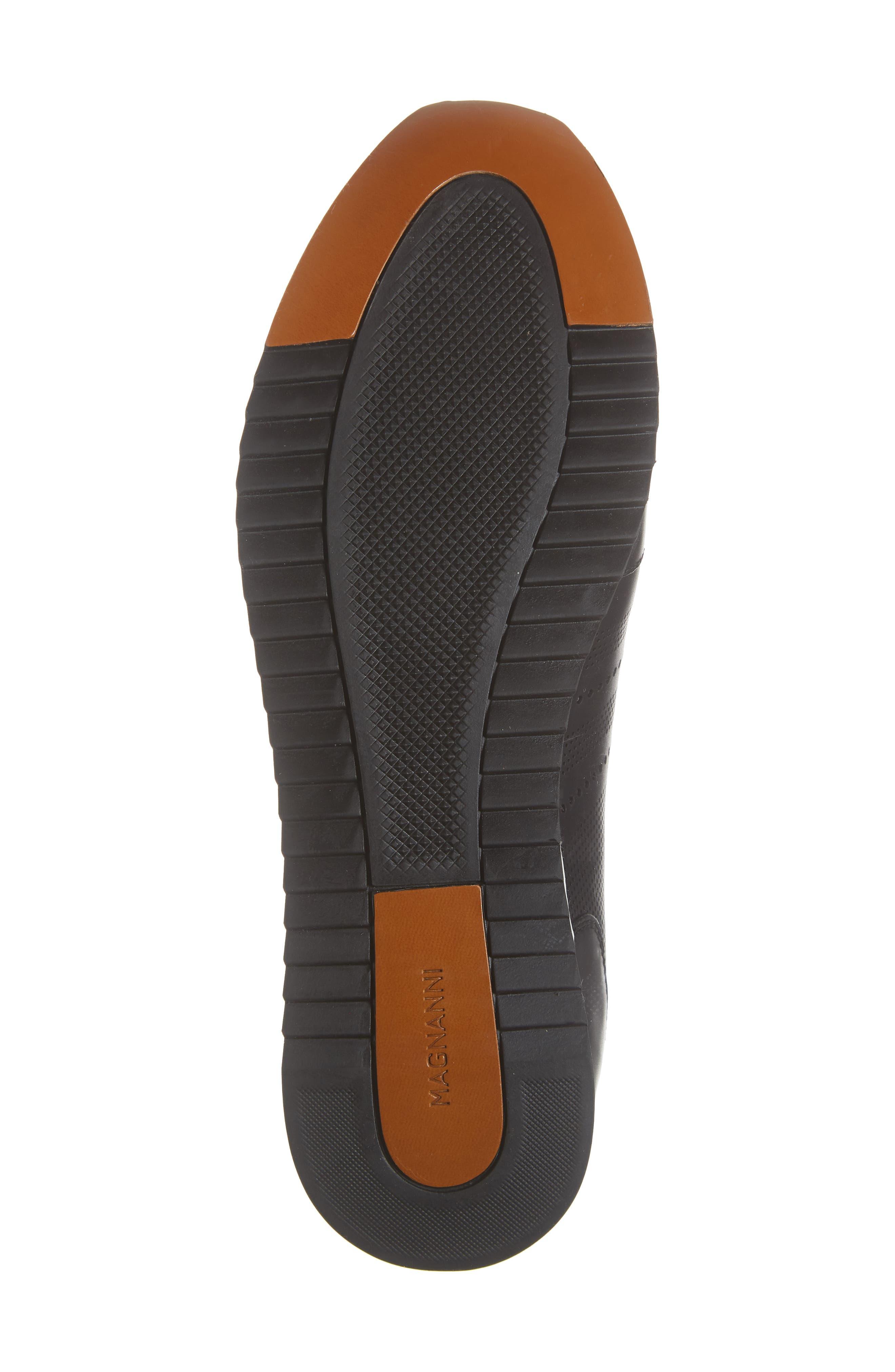 Merino Sneaker,                             Alternate thumbnail 6, color,                             BLACK LEATHER