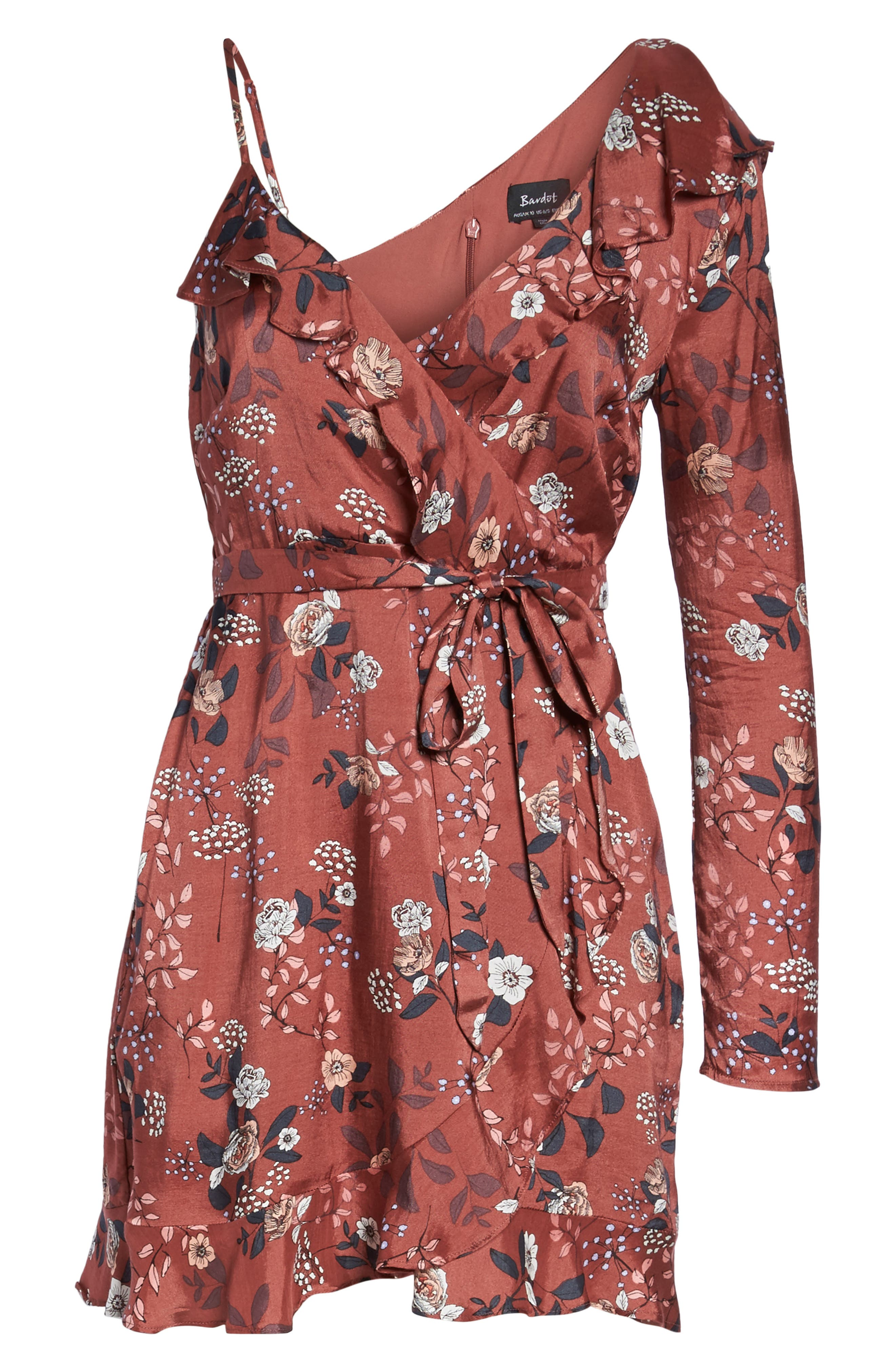 Milly Wrap Dress,                             Alternate thumbnail 6, color,                             223