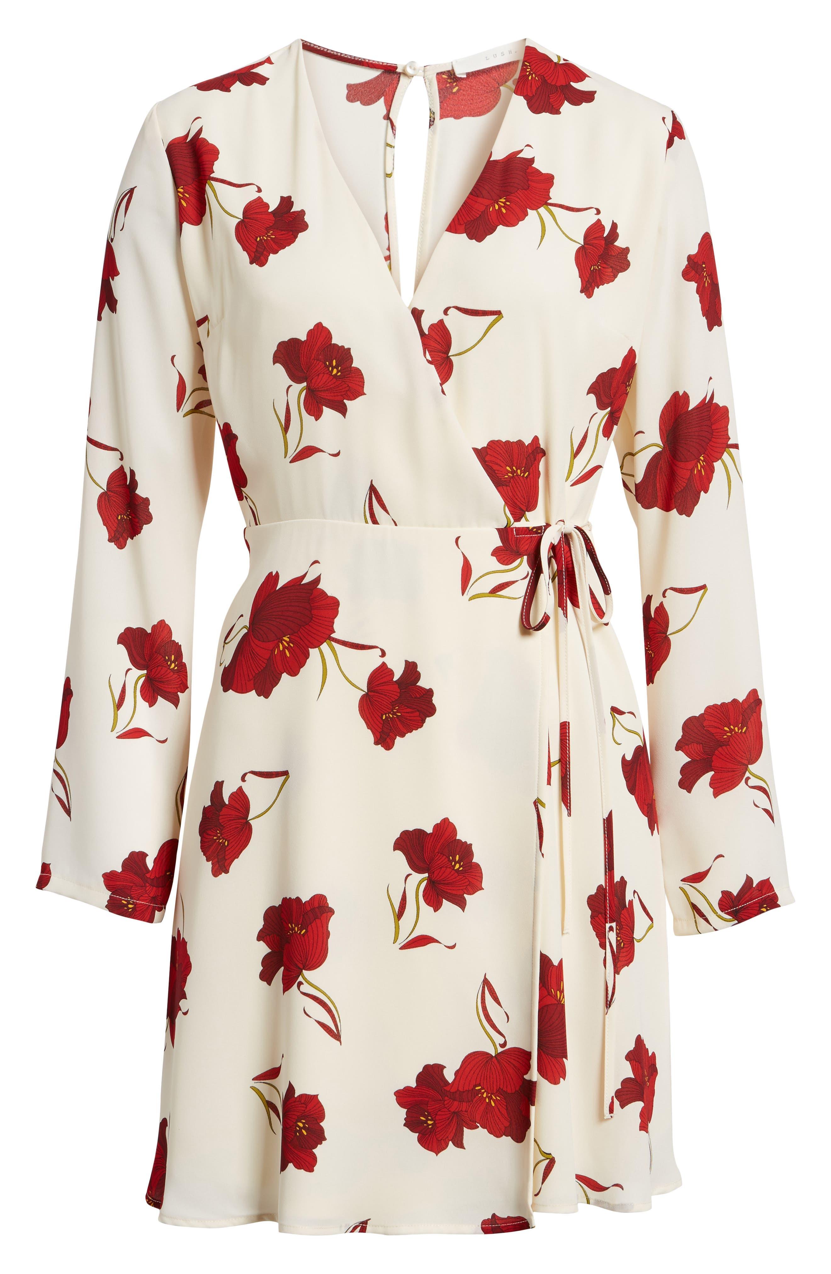 Elly Wrap Dress,                             Alternate thumbnail 69, color,