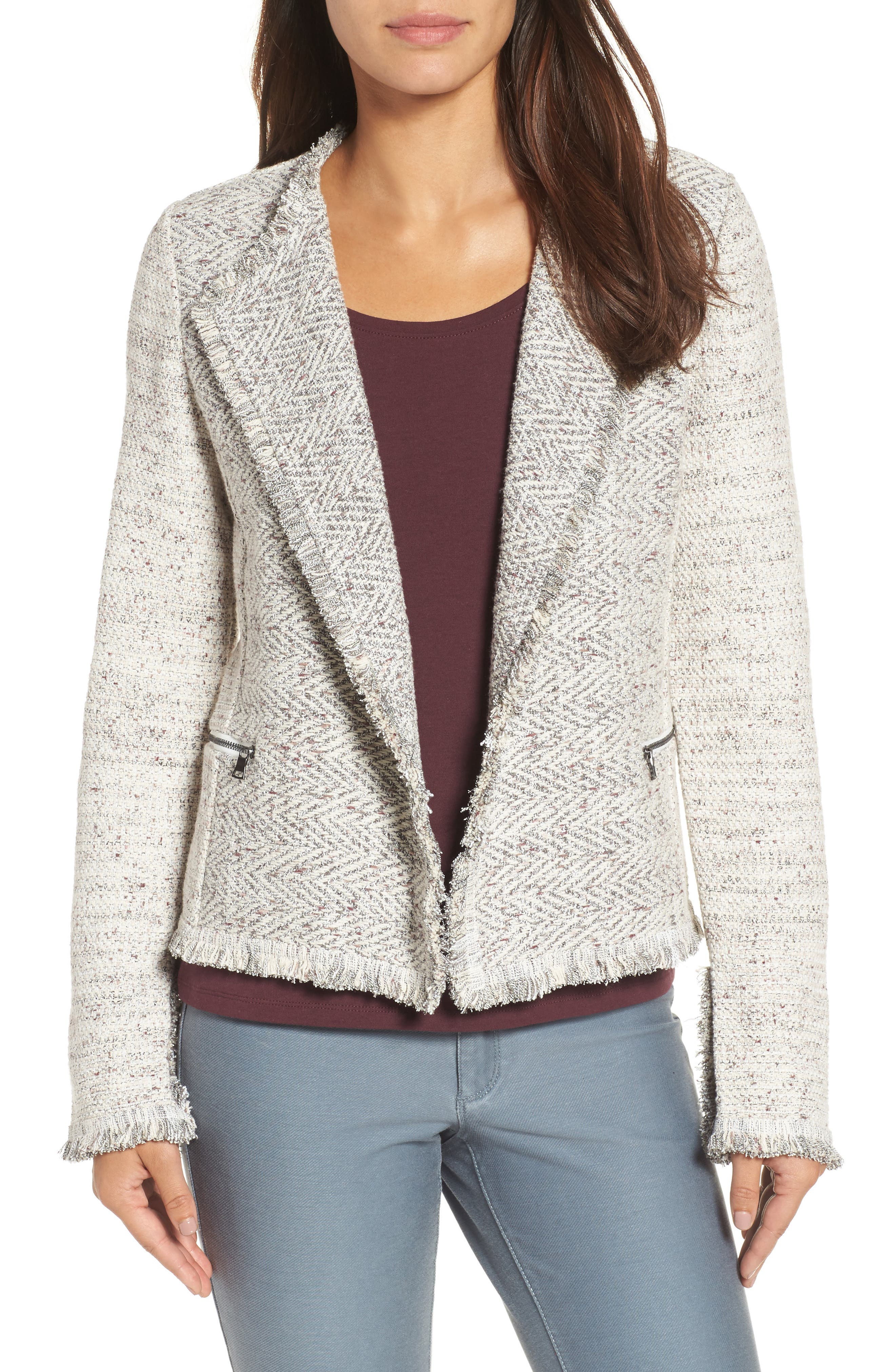 Chilled Tweed Jacket,                             Main thumbnail 1, color,                             090