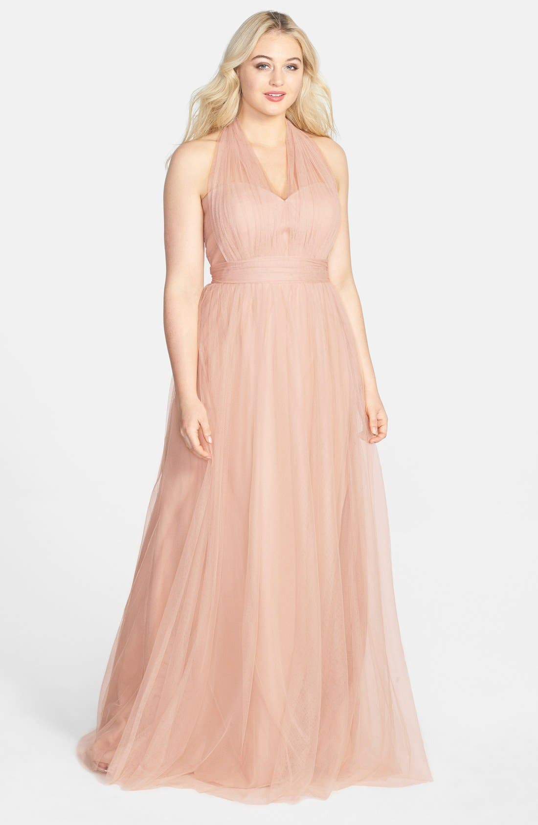 Annabelle Convertible Tulle Column Dress,                             Alternate thumbnail 175, color,