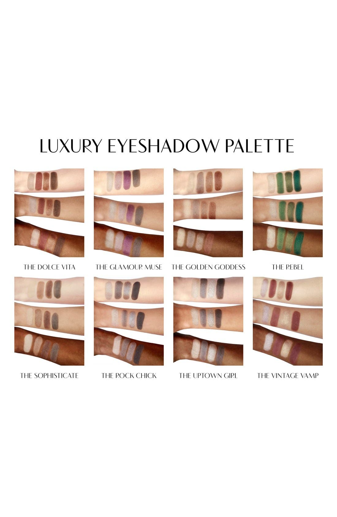 Luxury Palette - The Uptown Girl Color-Coded Eyeshadow Palette,                             Alternate thumbnail 3, color,                             THE UPTOWN GIRL