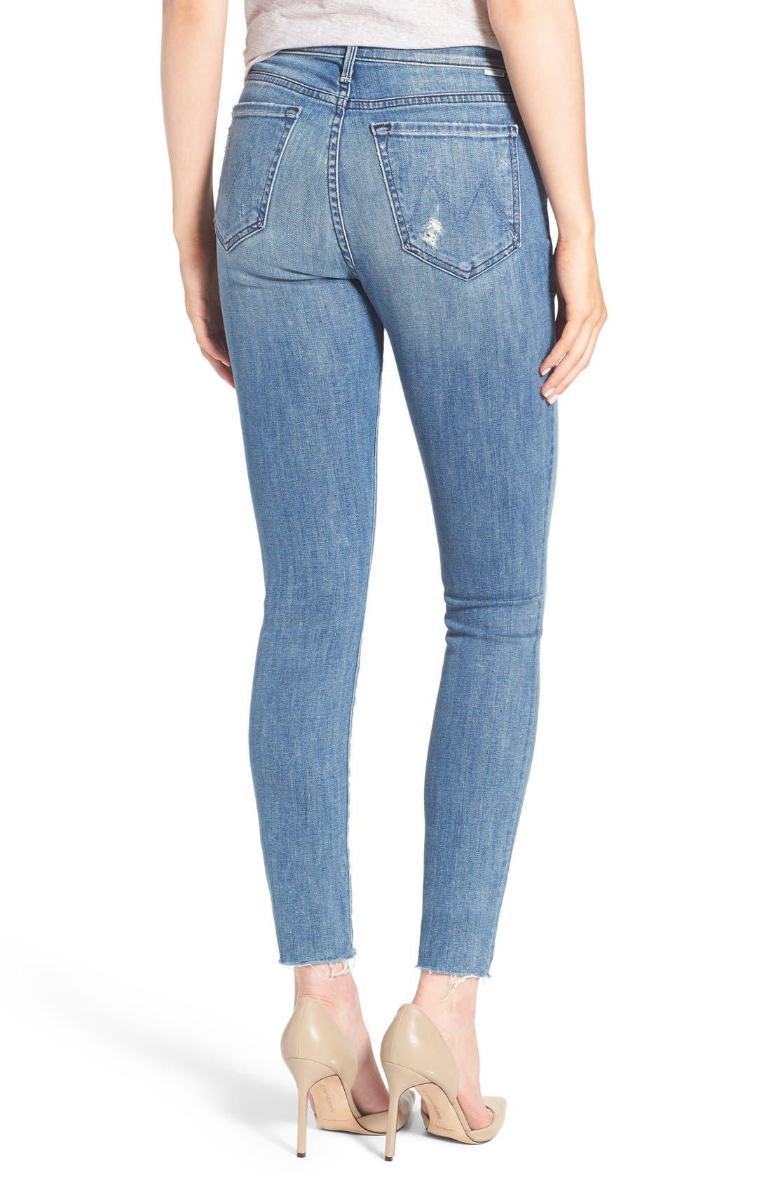 The Stunner Frayed Ankle Skinny Jeans,                             Alternate thumbnail 9, color,                             GRAFITTI GIRL
