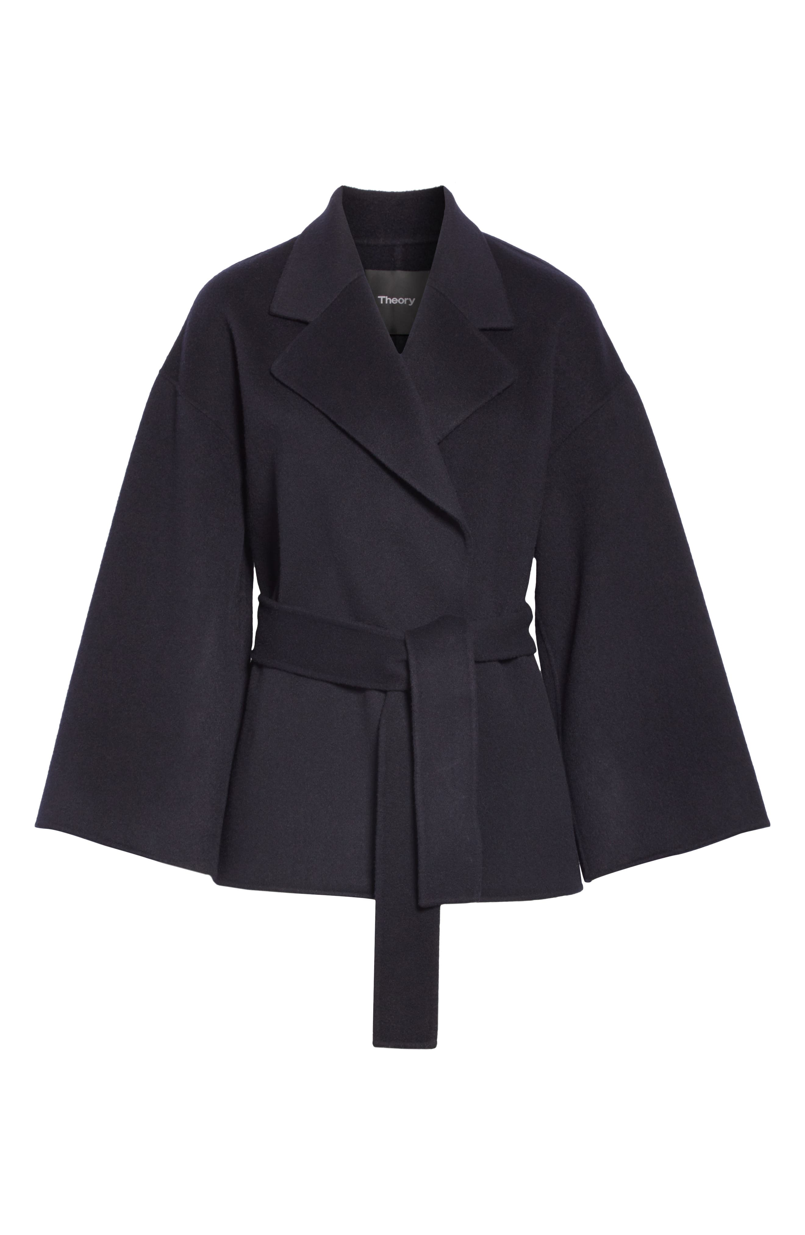 Wool & Cashmere Belted Jacket,                             Alternate thumbnail 5, color,                             400