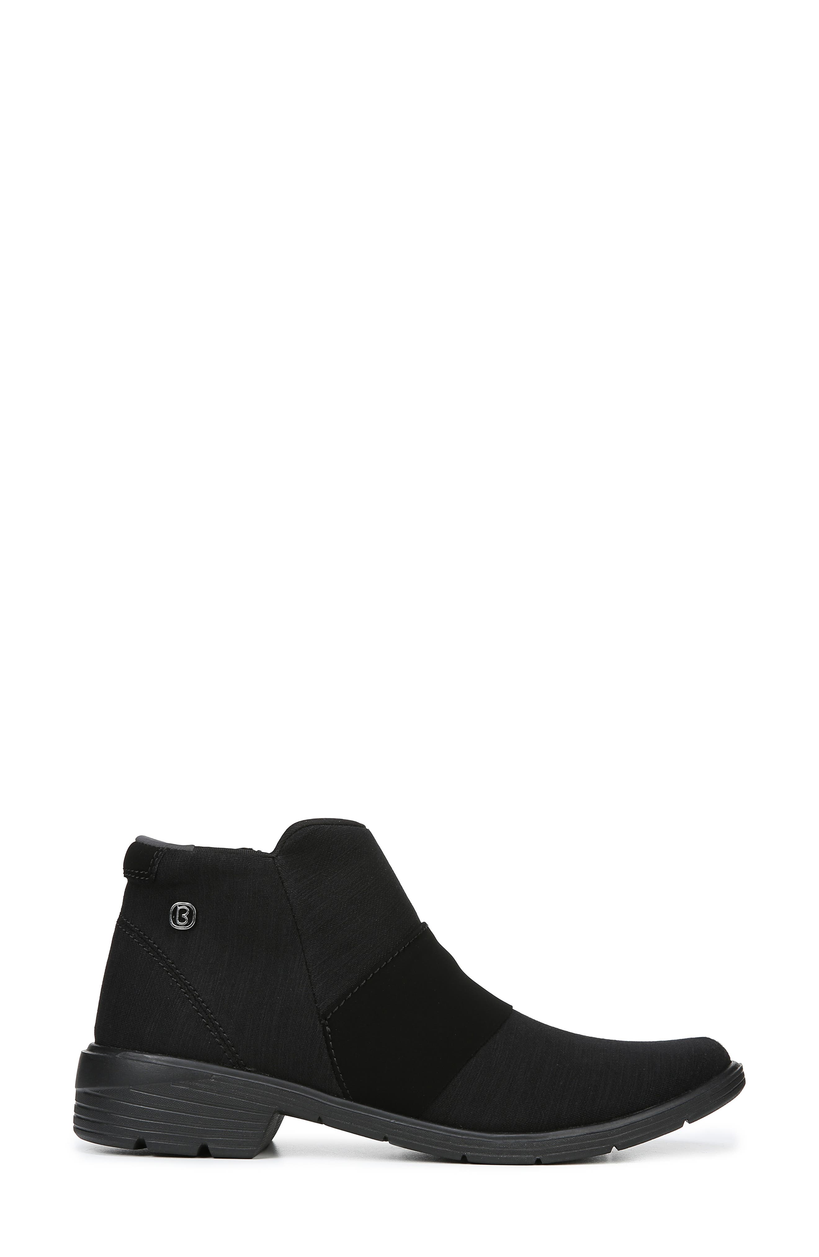 BZEES,                             Billie Bootie,                             Alternate thumbnail 3, color,                             BLACK THICK HEATHER FABRIC