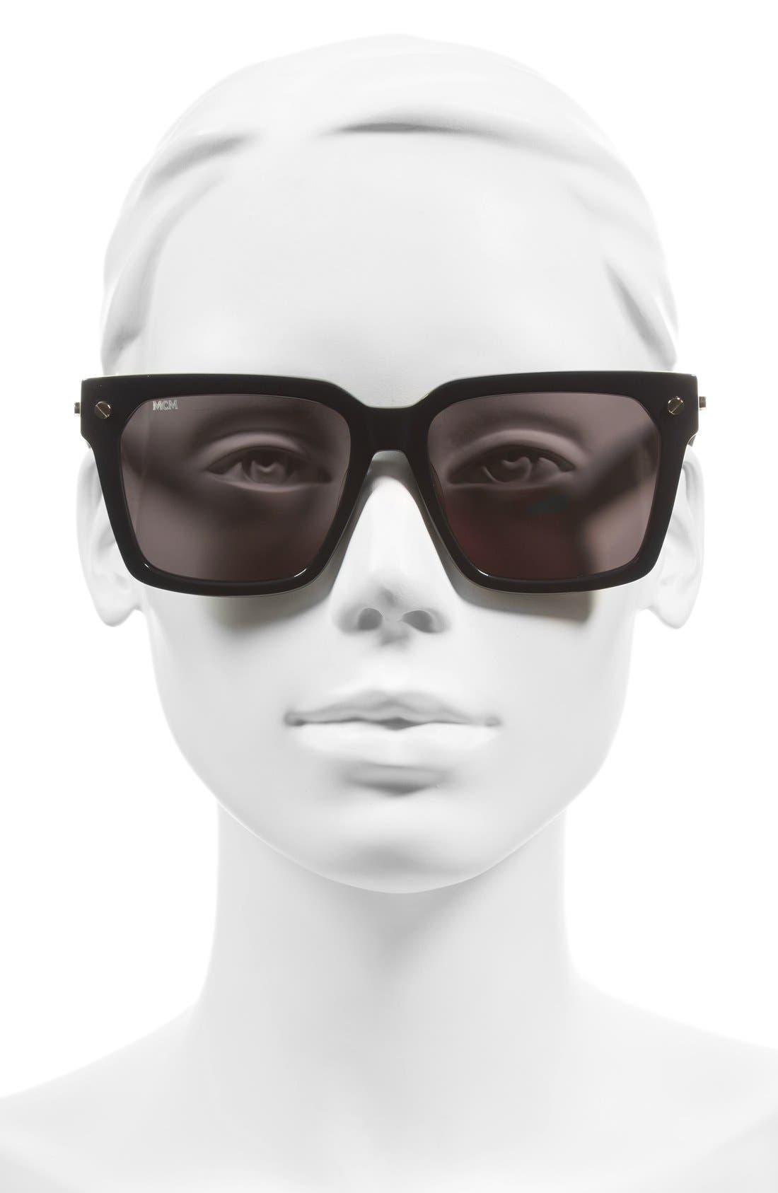 57mm Sunglasses,                             Alternate thumbnail 2, color,                             004