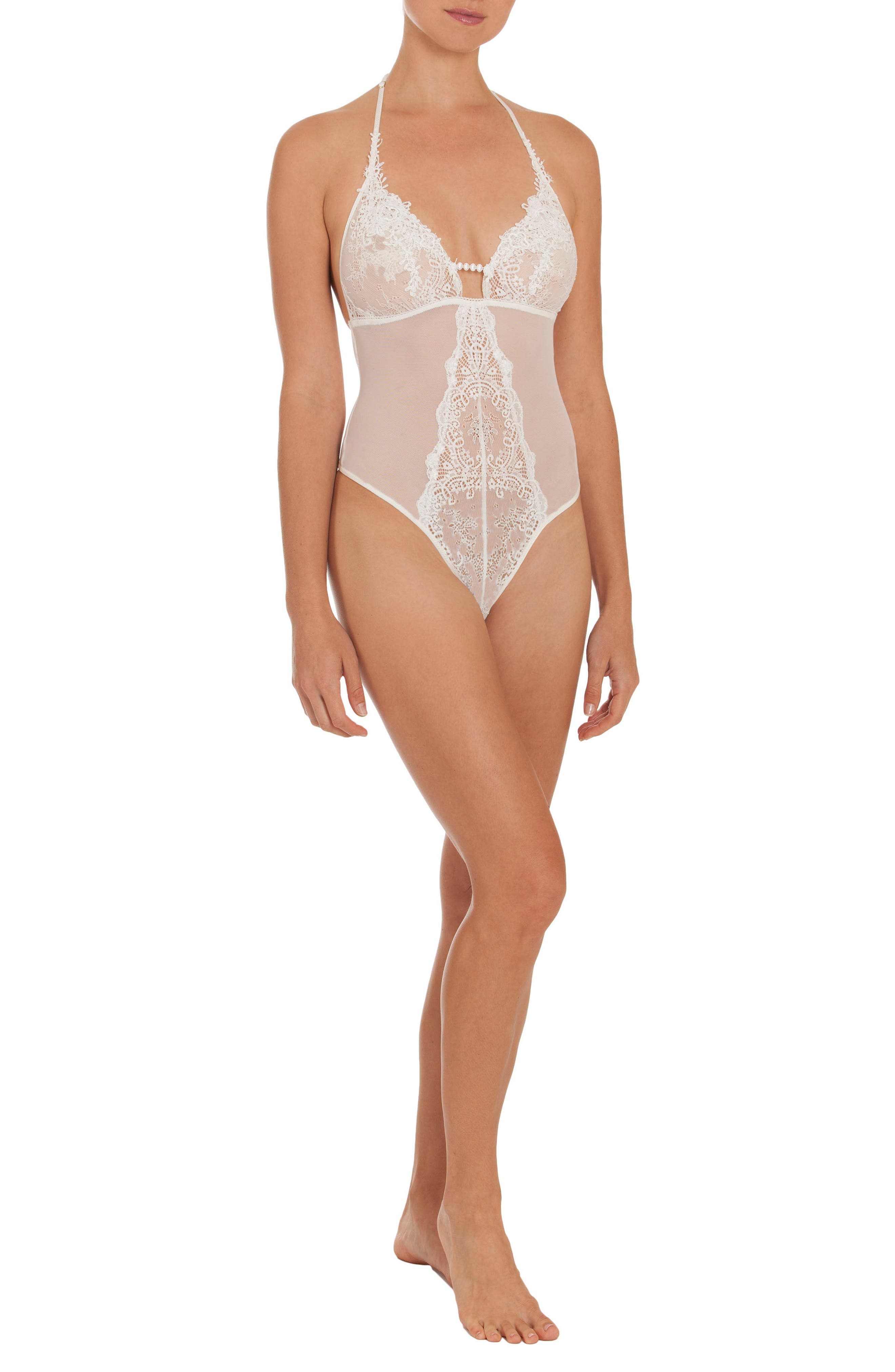Sheer Thong Bodysuit,                             Alternate thumbnail 10, color,