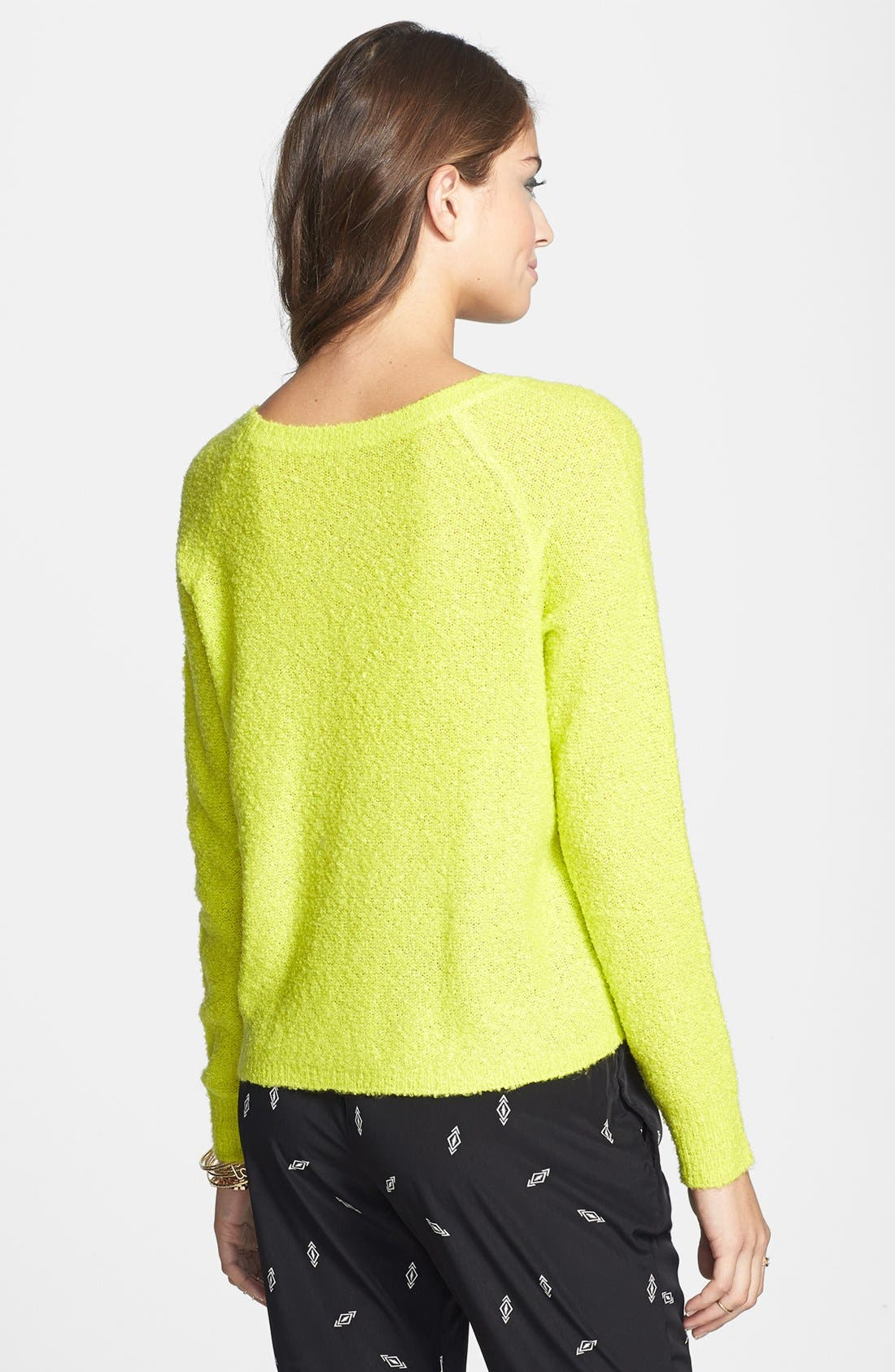 'Grunge' Textured Sweater,                             Alternate thumbnail 18, color,