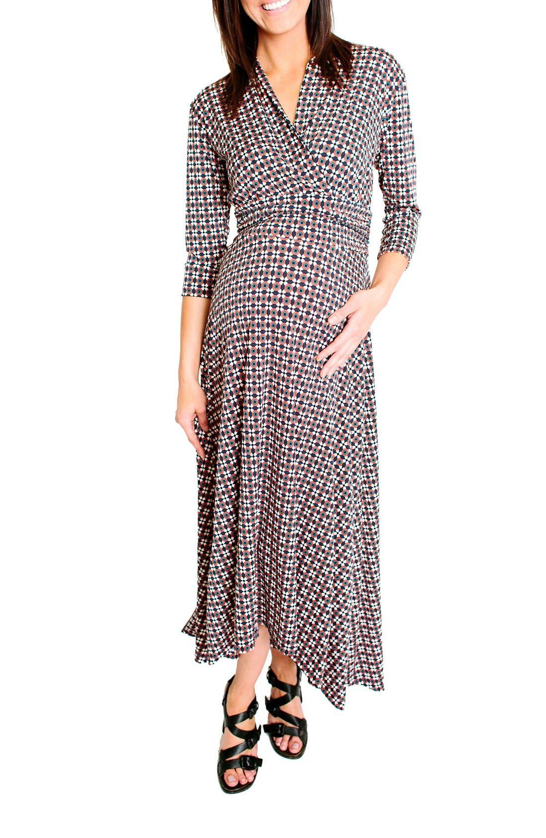 Liv Maternity Dress,                         Main,                         color, 602