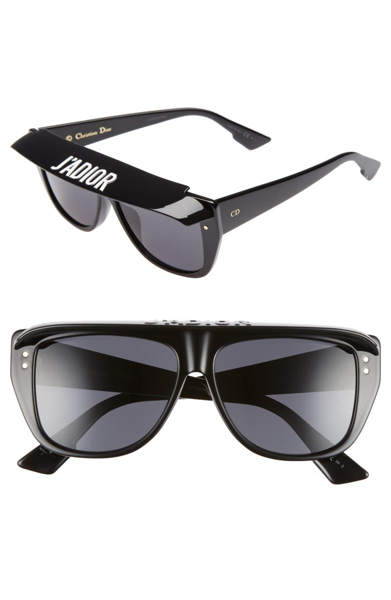 08312e4849 Dior DiorClub2S 56mm Square Sunglasses with Removable Visor