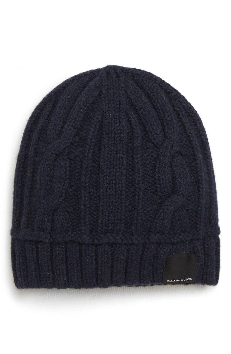 d579ac46330 Canada Goose Cabled Merino Wool Toque Beanie - Black