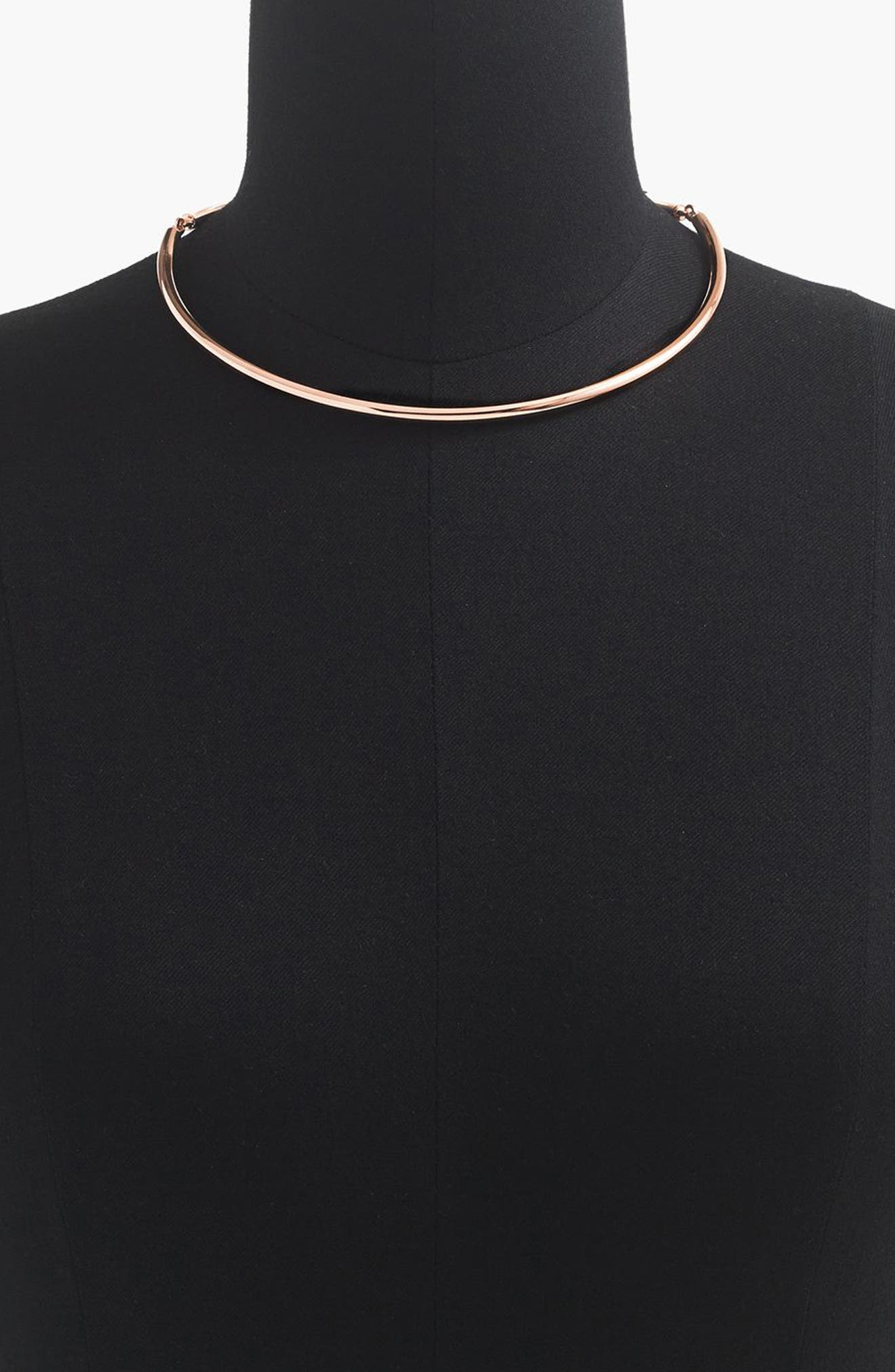 Simple Collar Necklace,                             Alternate thumbnail 5, color,