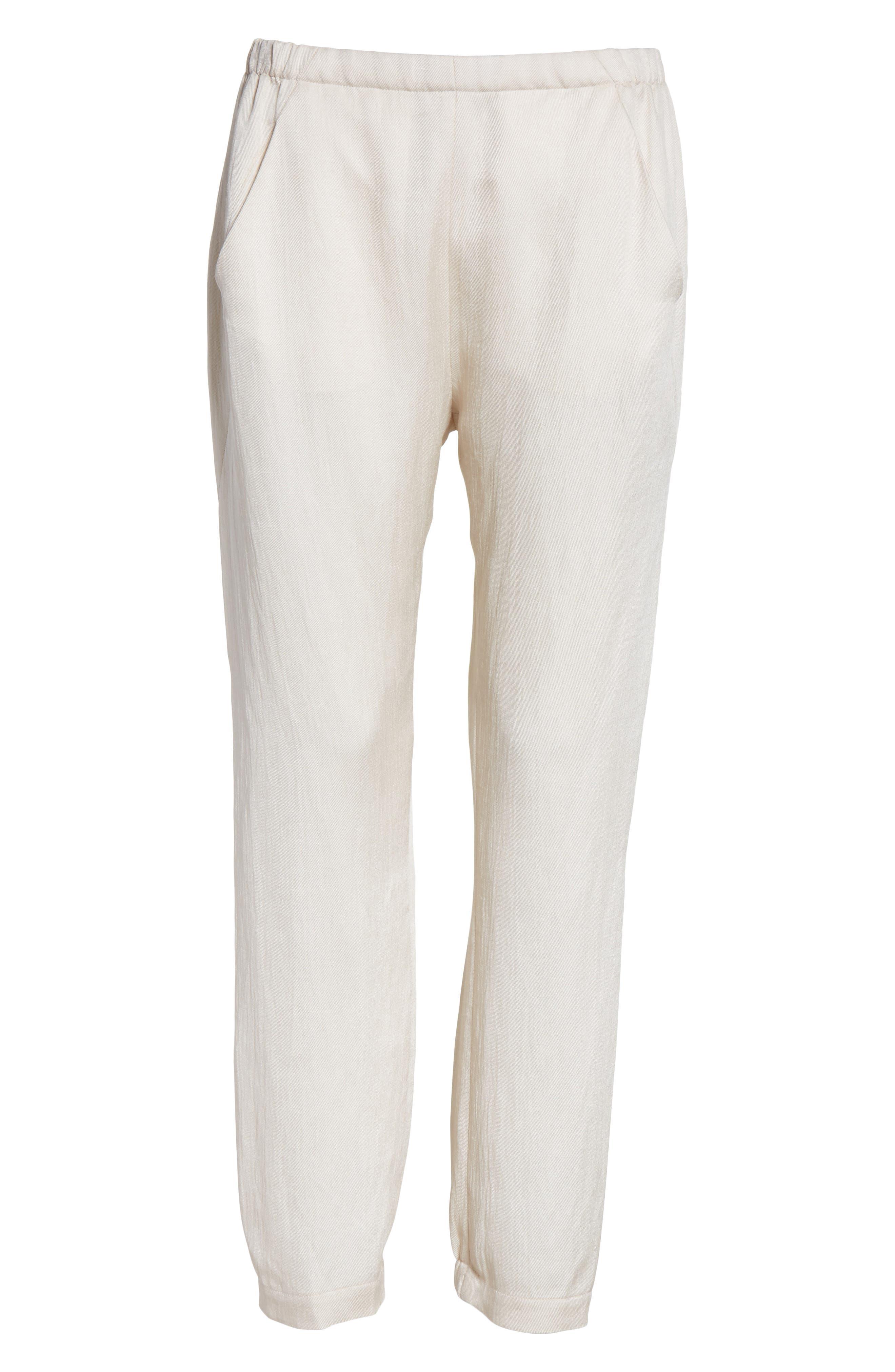 Gabi Eco Drape Pants,                             Alternate thumbnail 6, color,