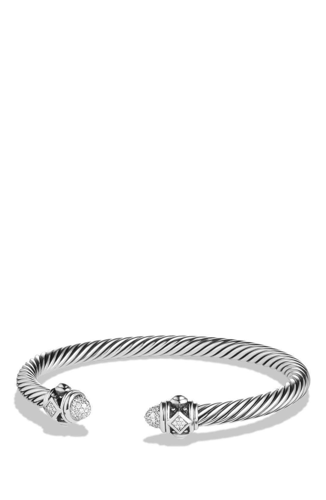 Renaissance Bracelet with Diamonds in Silver, 5mm,                             Main thumbnail 1, color,                             DIAMOND