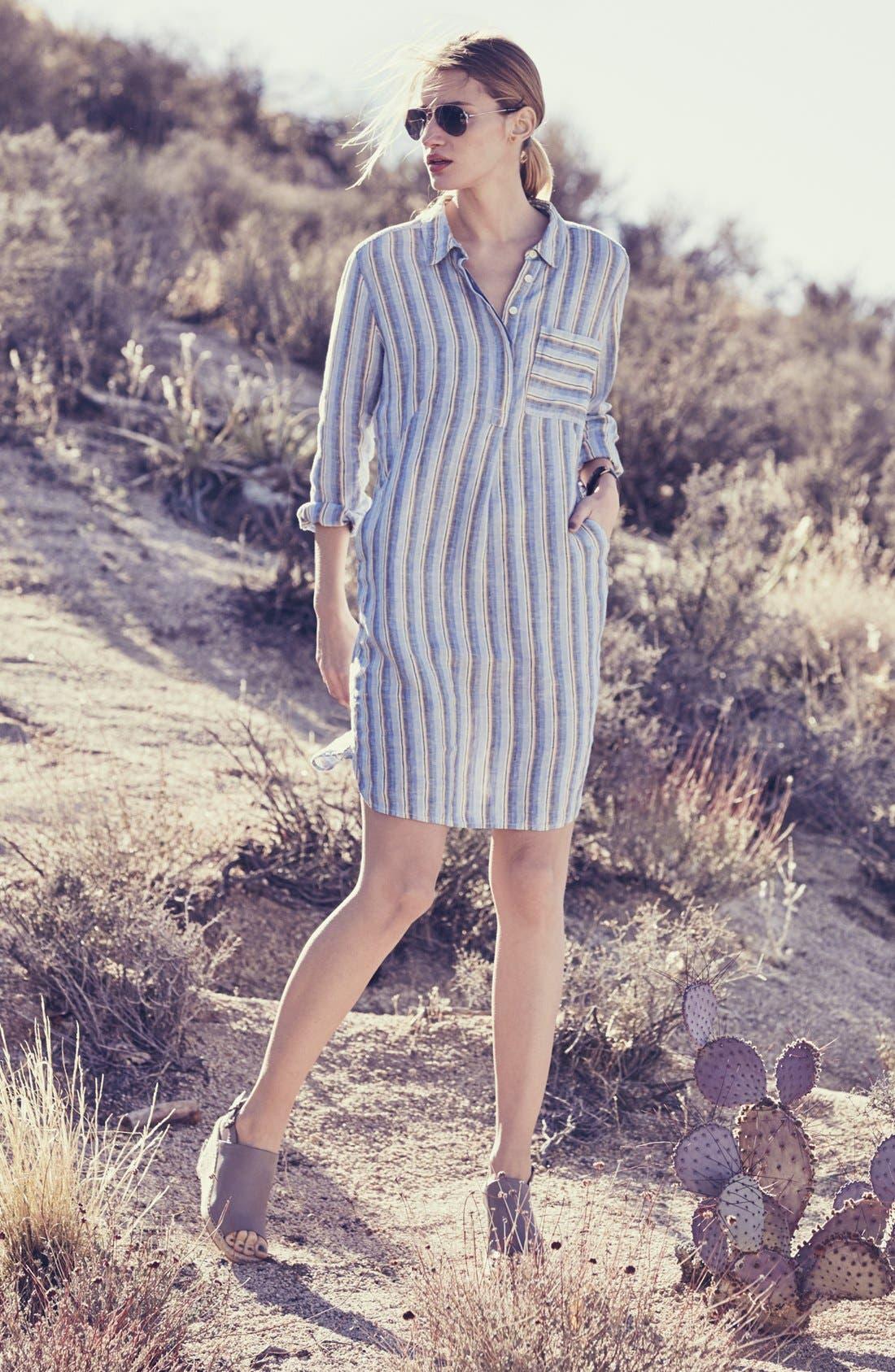 Linen Shirtdress,                             Alternate thumbnail 6, color,                             420