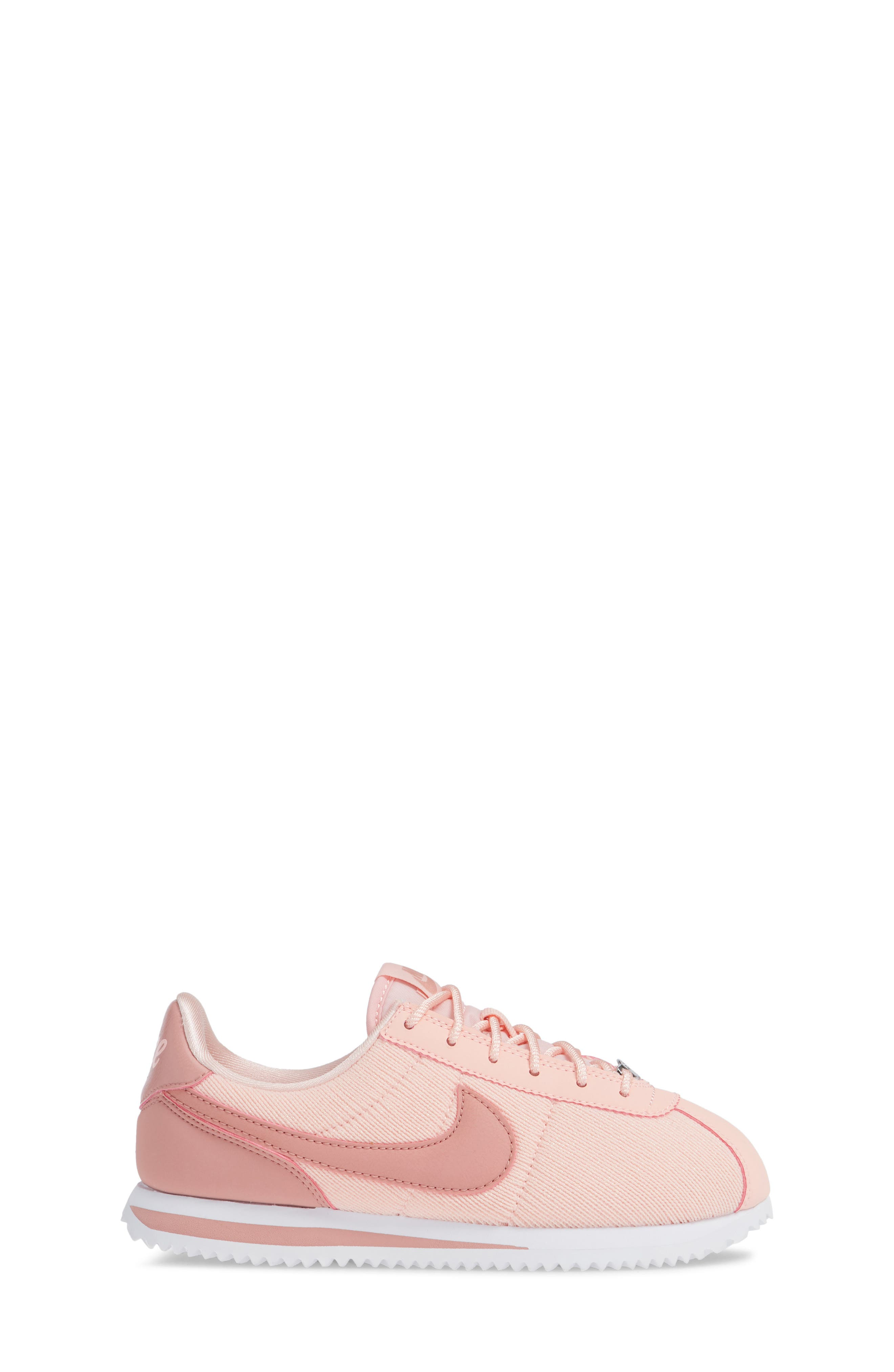 Cortez Basic TXT SE Sneaker,                             Alternate thumbnail 3, color,                             STORM PINK/ RUST PINK/ WHITE