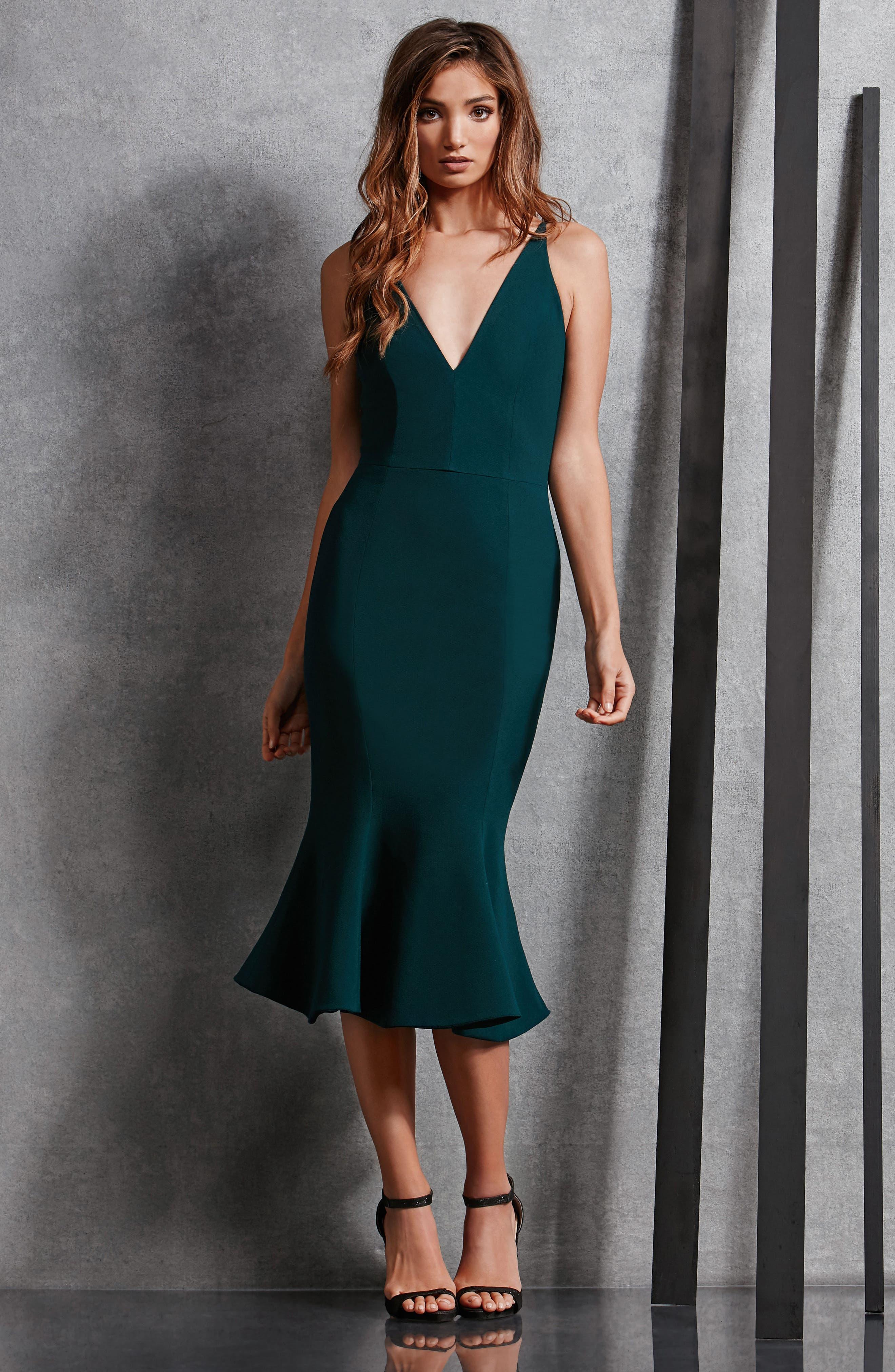 Isabelle Crepe Mermaid Dress,                             Alternate thumbnail 14, color,